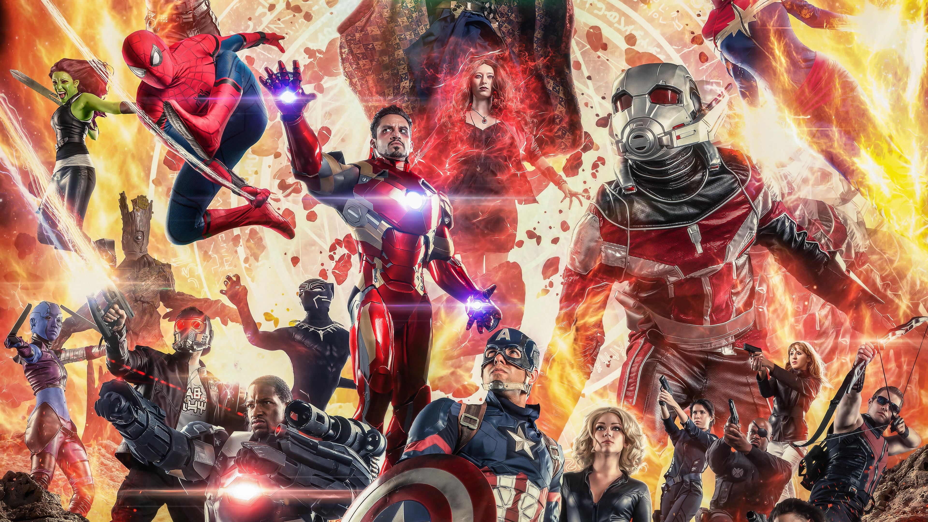 Avengers Infinity War Cosplay 4k, HD Superheroes, 4k ...