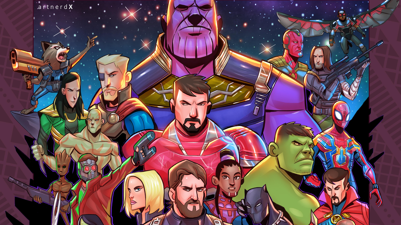 Avengers Infinity War Superheroes Artwork, HD Superheroes ...