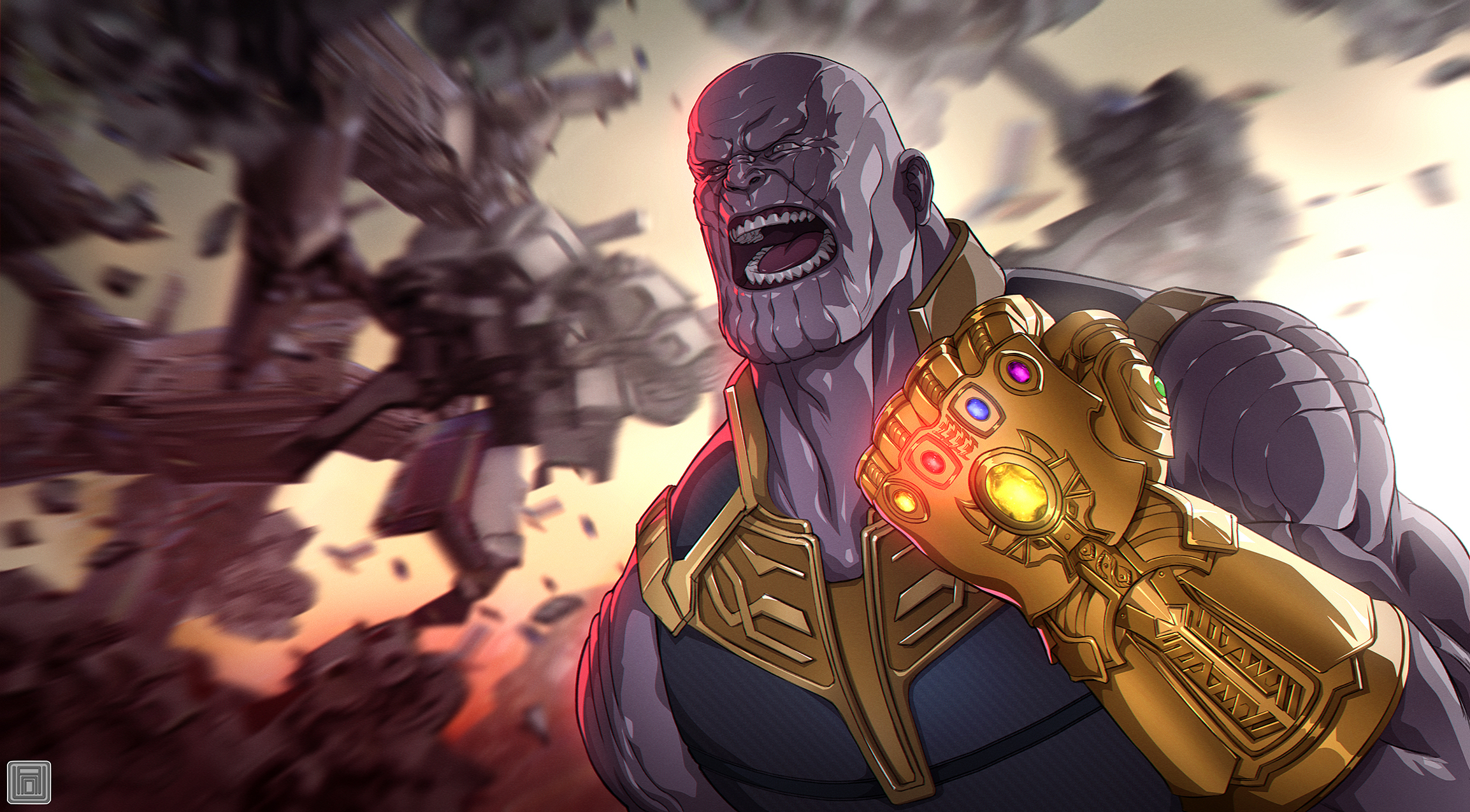 1920x1080 Avengers Infinity War Thanos Gauntlet Artwork