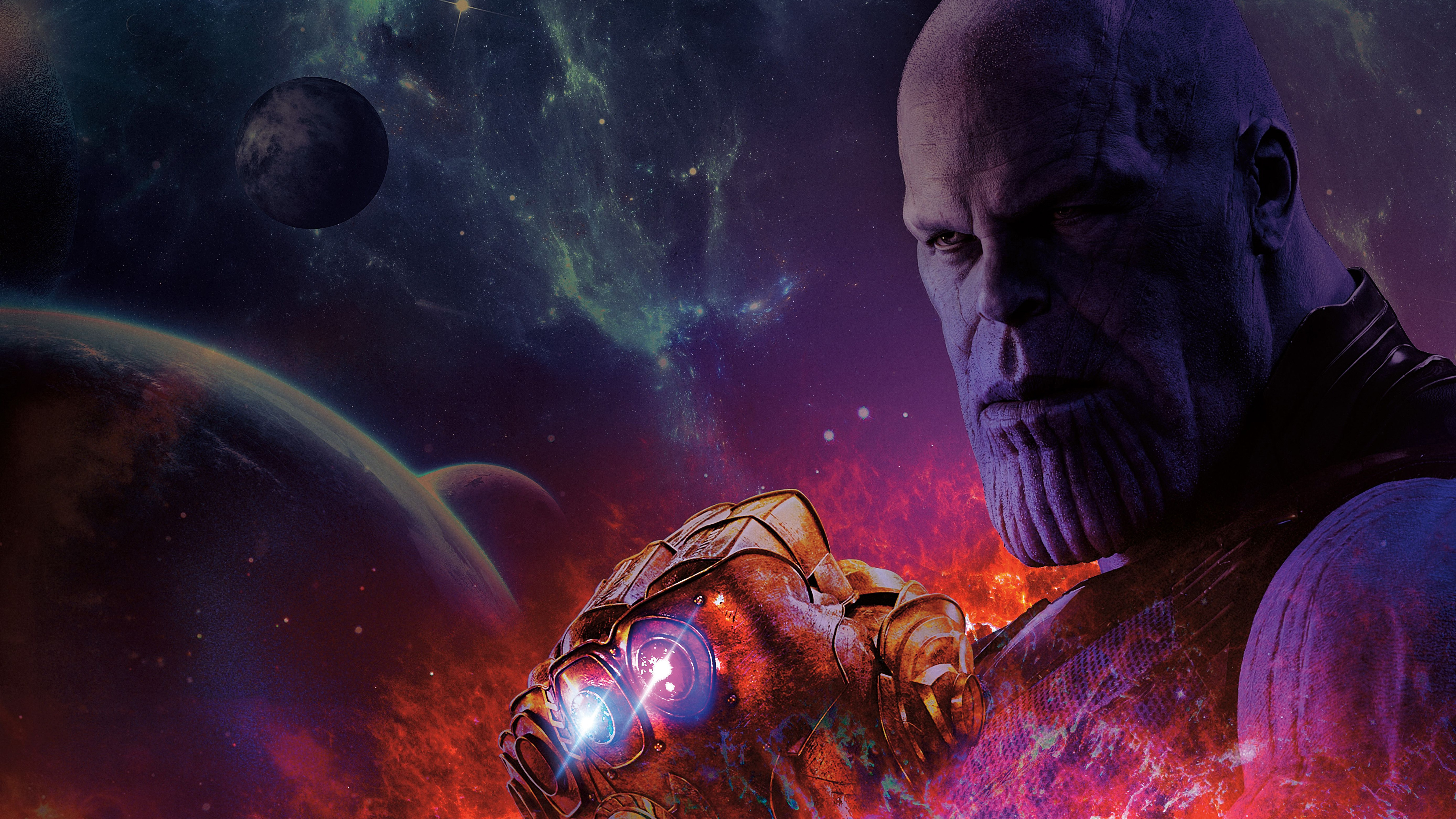 Thanos Hd Wallpaper: Avengers Infinity War Thanos With Gauntlet Infinity Stones