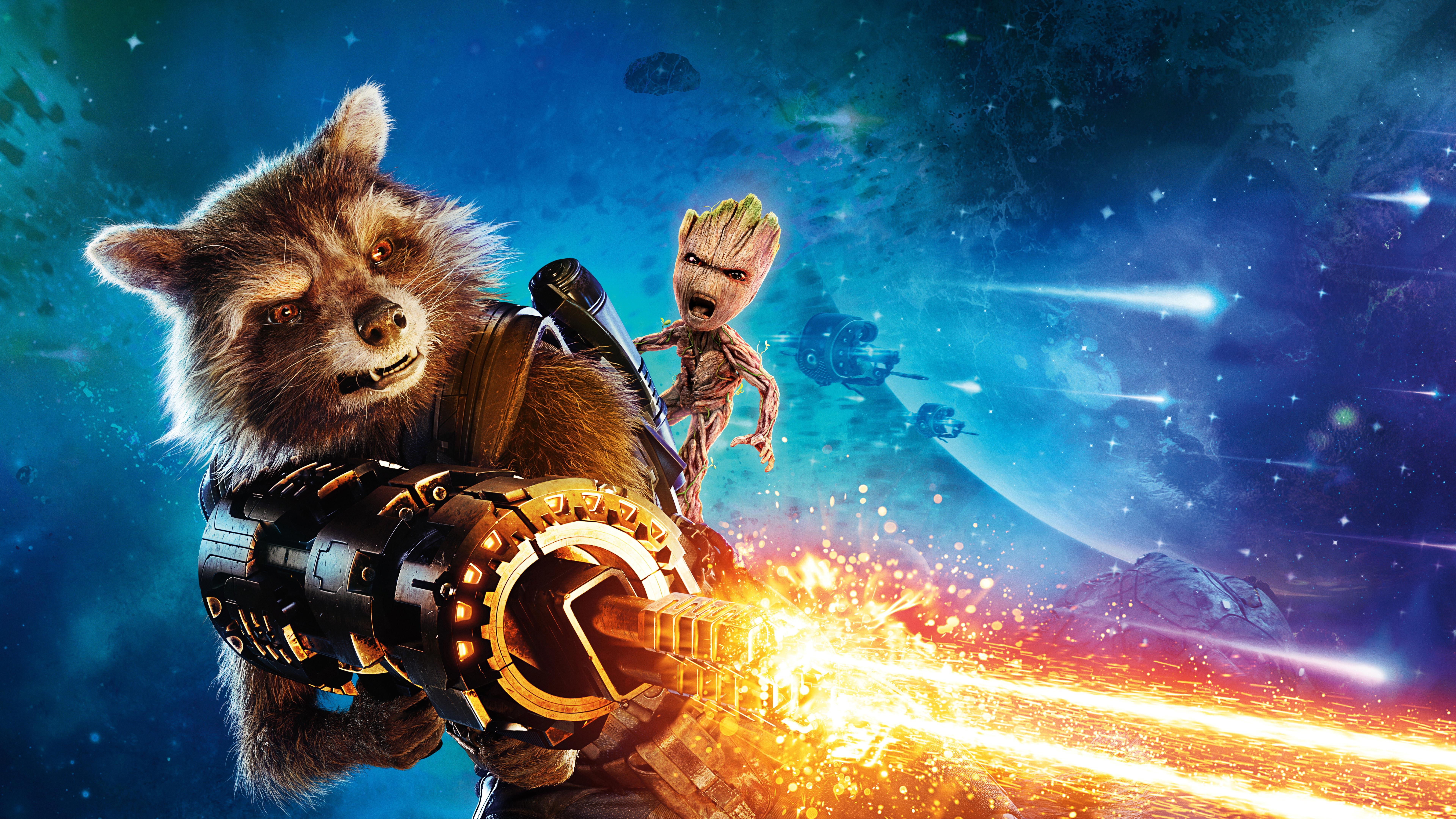 Baby Groot Guardians Of The Galaxy Vol 2 Hd Movies 4k: Baby Groot And Rocket Raccoon Guardians Of The Galaxy Vol