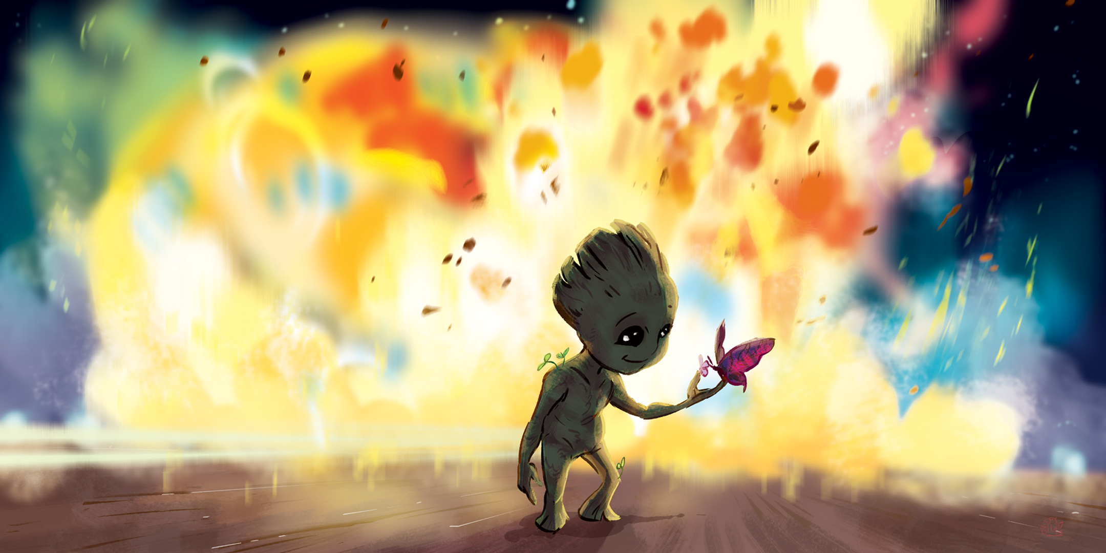 Baby Groot Fan Art, HD Artist, 4k Wallpapers, Images