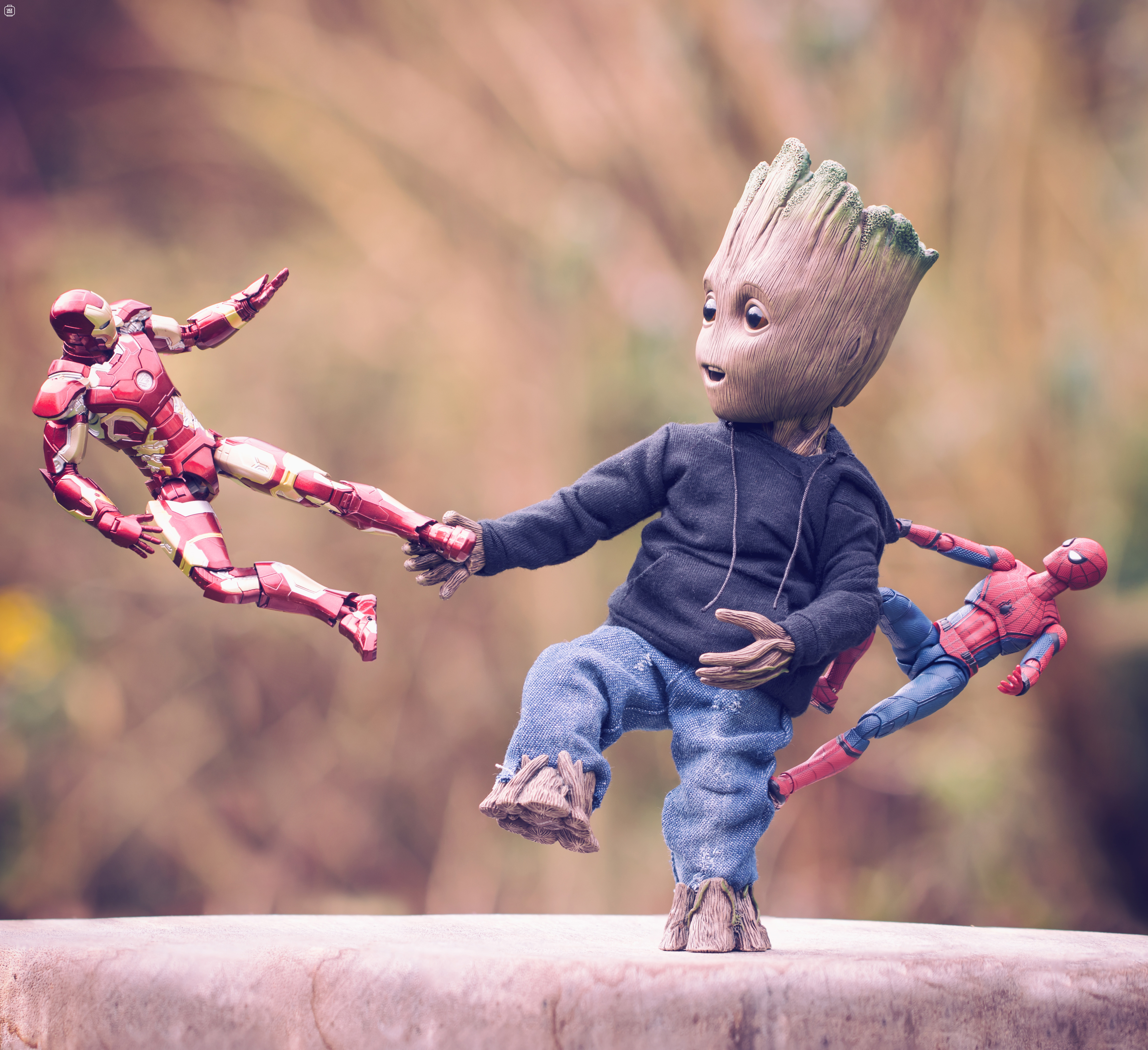 Baby Groot Iron Man And Spiderman Hd Others 4k Wallpapers Images