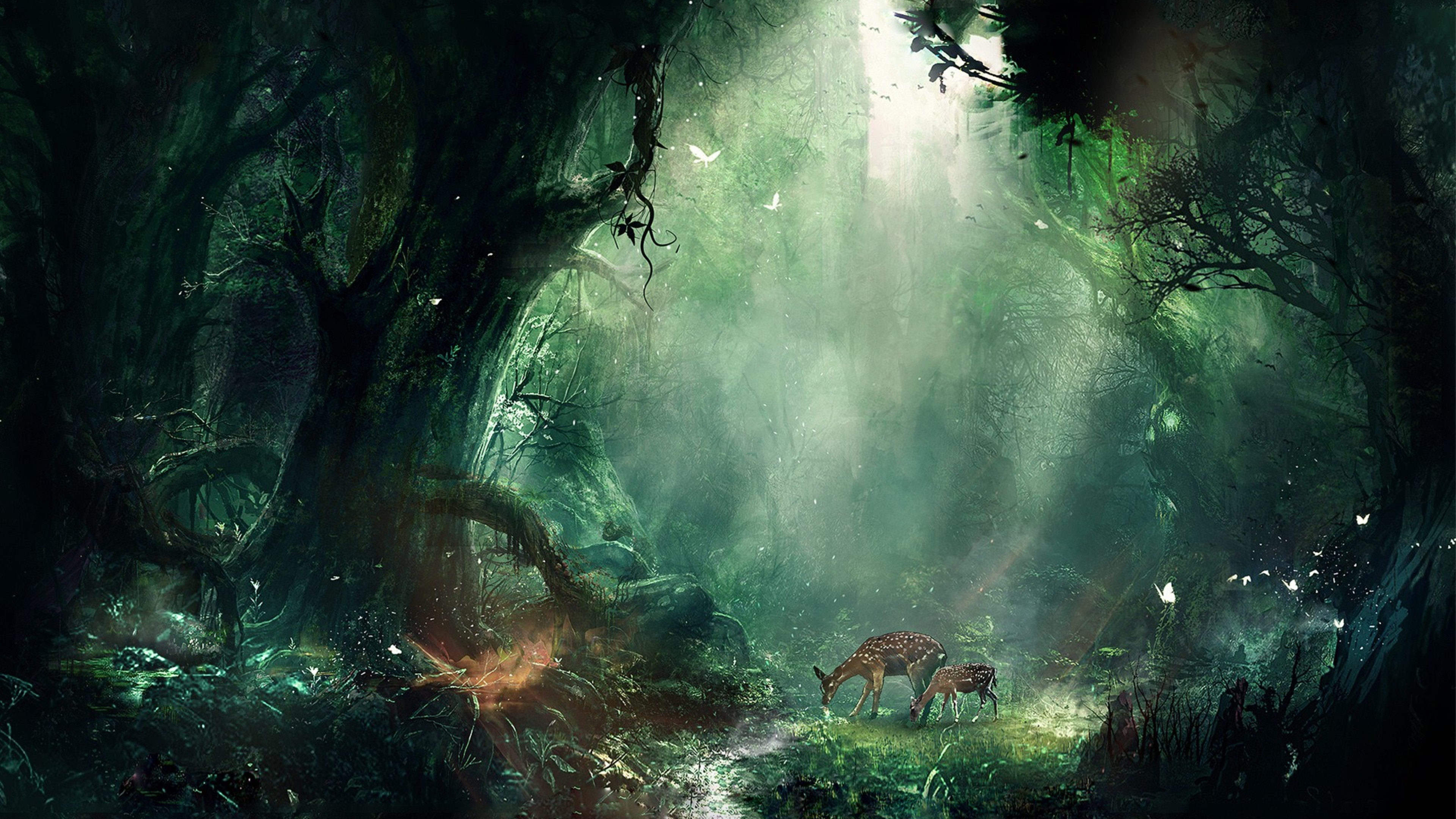 Creative Detailed Hd Fantasy Wallpapers: Bambi Jungle, HD Creative, 4k Wallpapers, Images