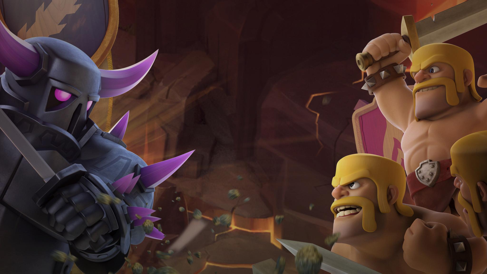 Barbarian Vs Pekka Clash Of Clans Hd Games 4k Wallpapers Images