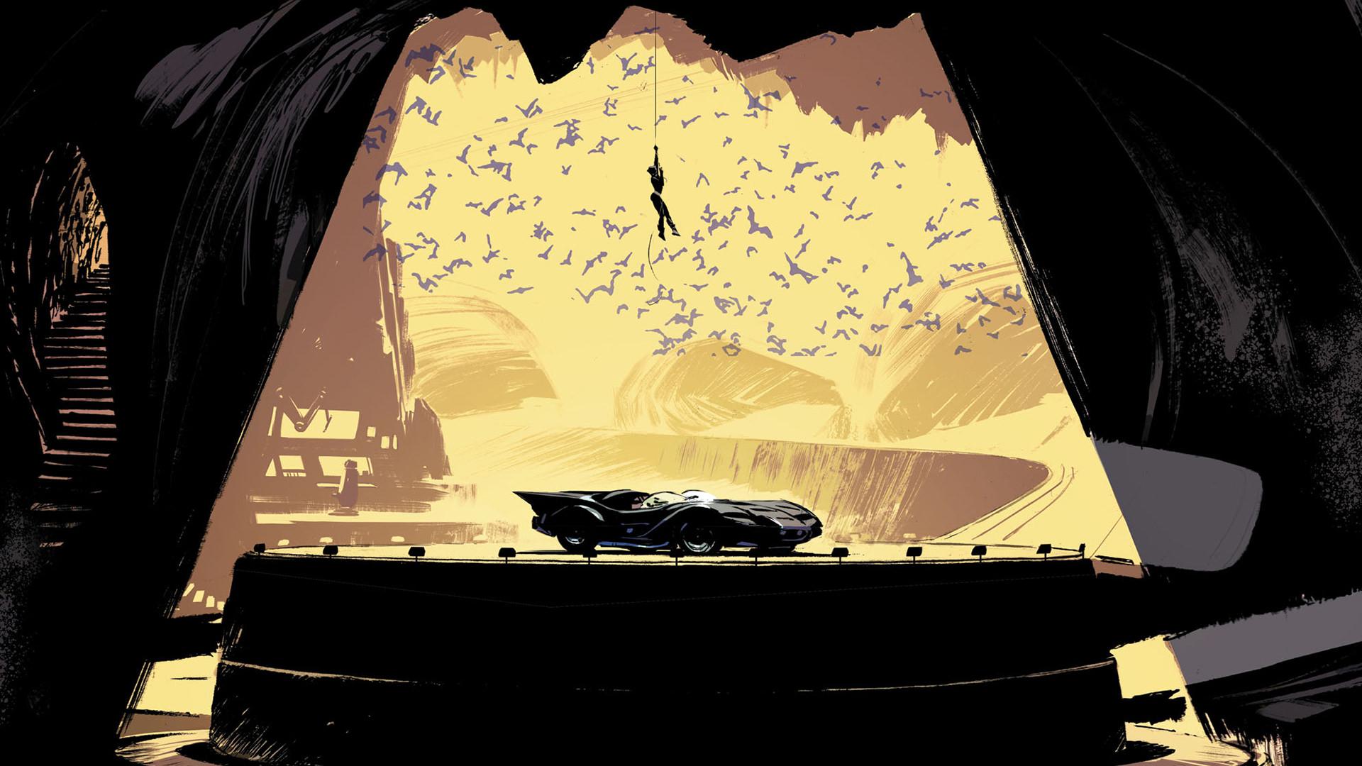 Batcave Catwoman DC Comics Artwork