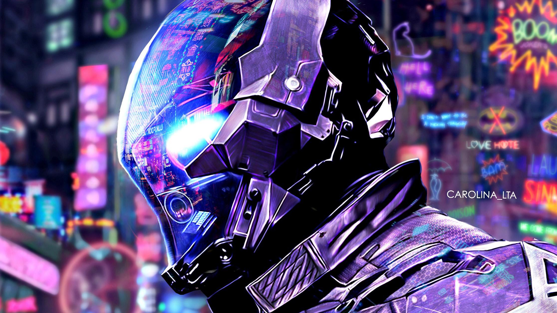 Batman Arkham Scifi Neon City, HD Superheroes, 4k ...