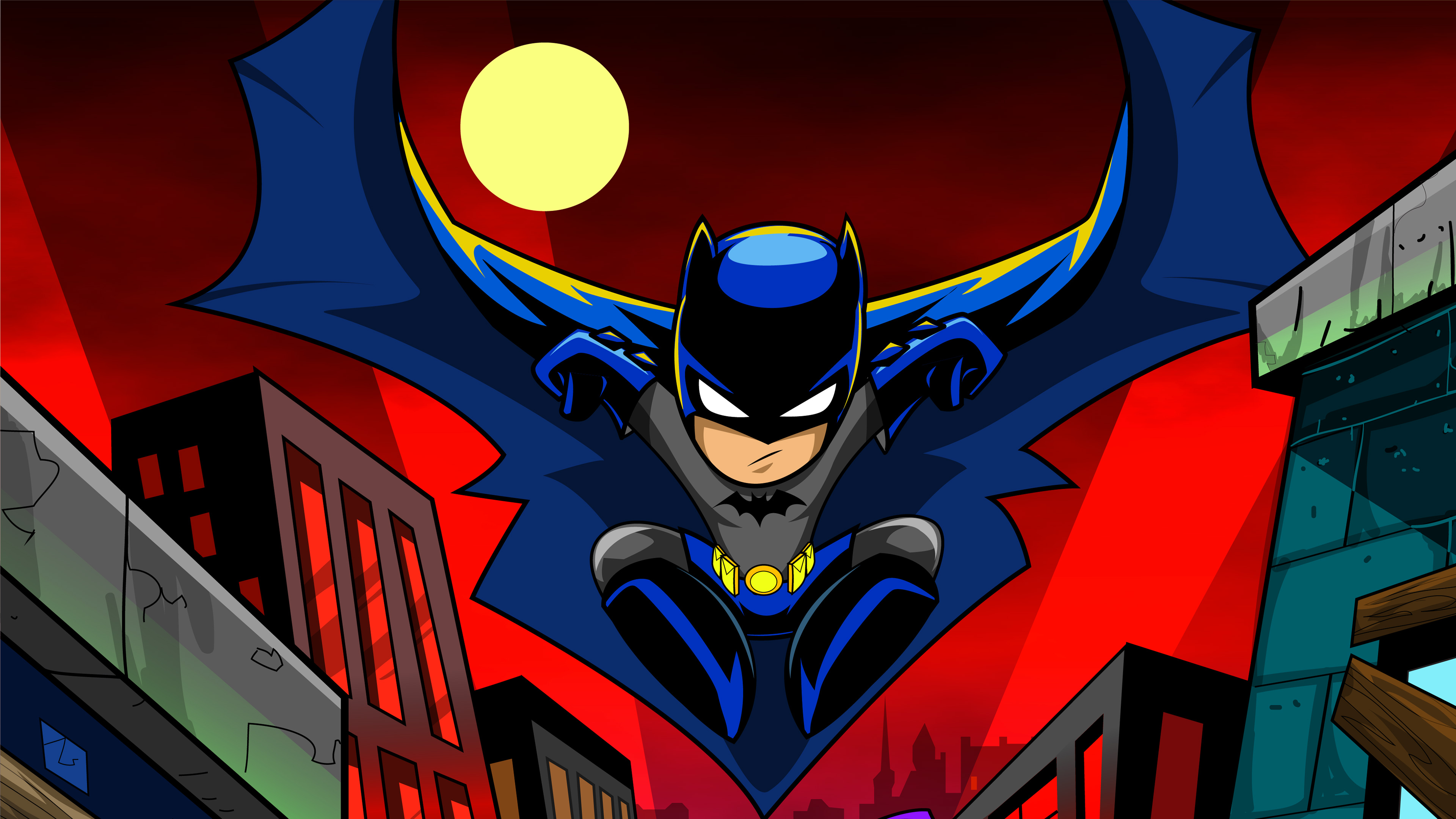 Batman Cartoon Art 4k, HD Superheroes, 4k Wallpapers ...