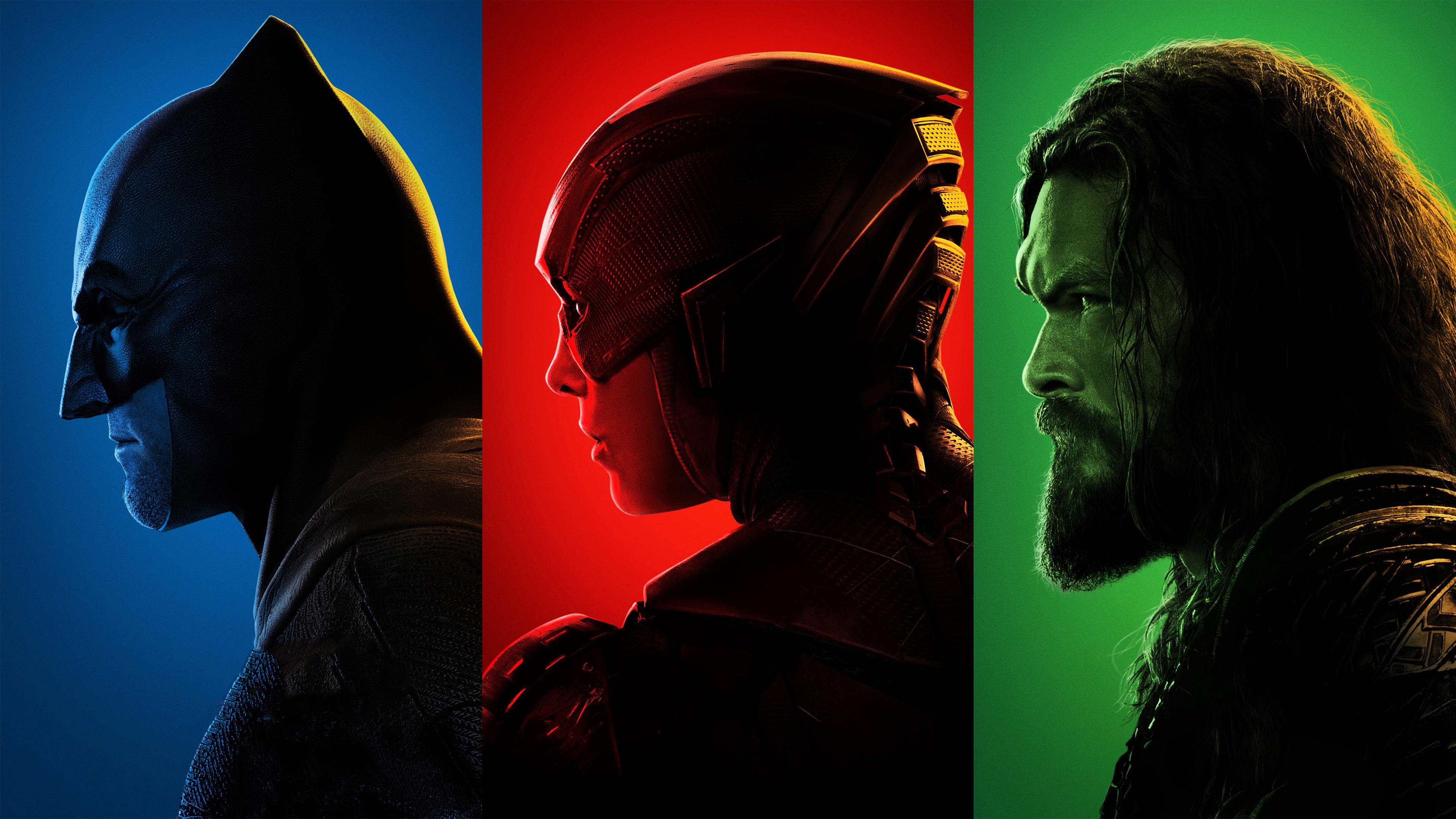 Justice League 2017 Movie 4k Hd Desktop Wallpaper For 4k: 1366x768 Batman Flash Aquaman Justice League 4k 1366x768