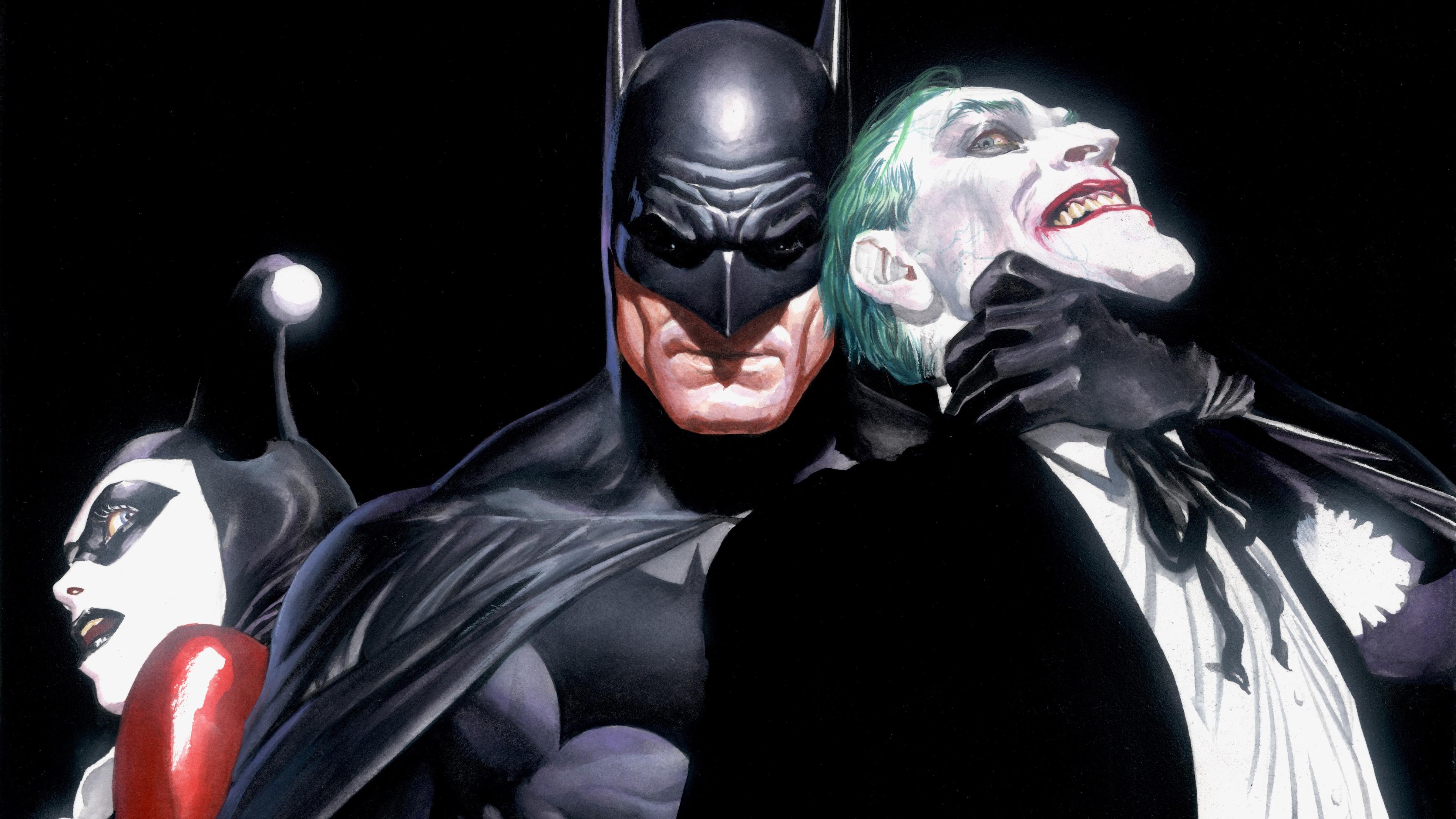 Harley Quinn 4k Hd Wallpapers: Batman Joker Harley Quinn, HD Superheroes, 4k Wallpapers