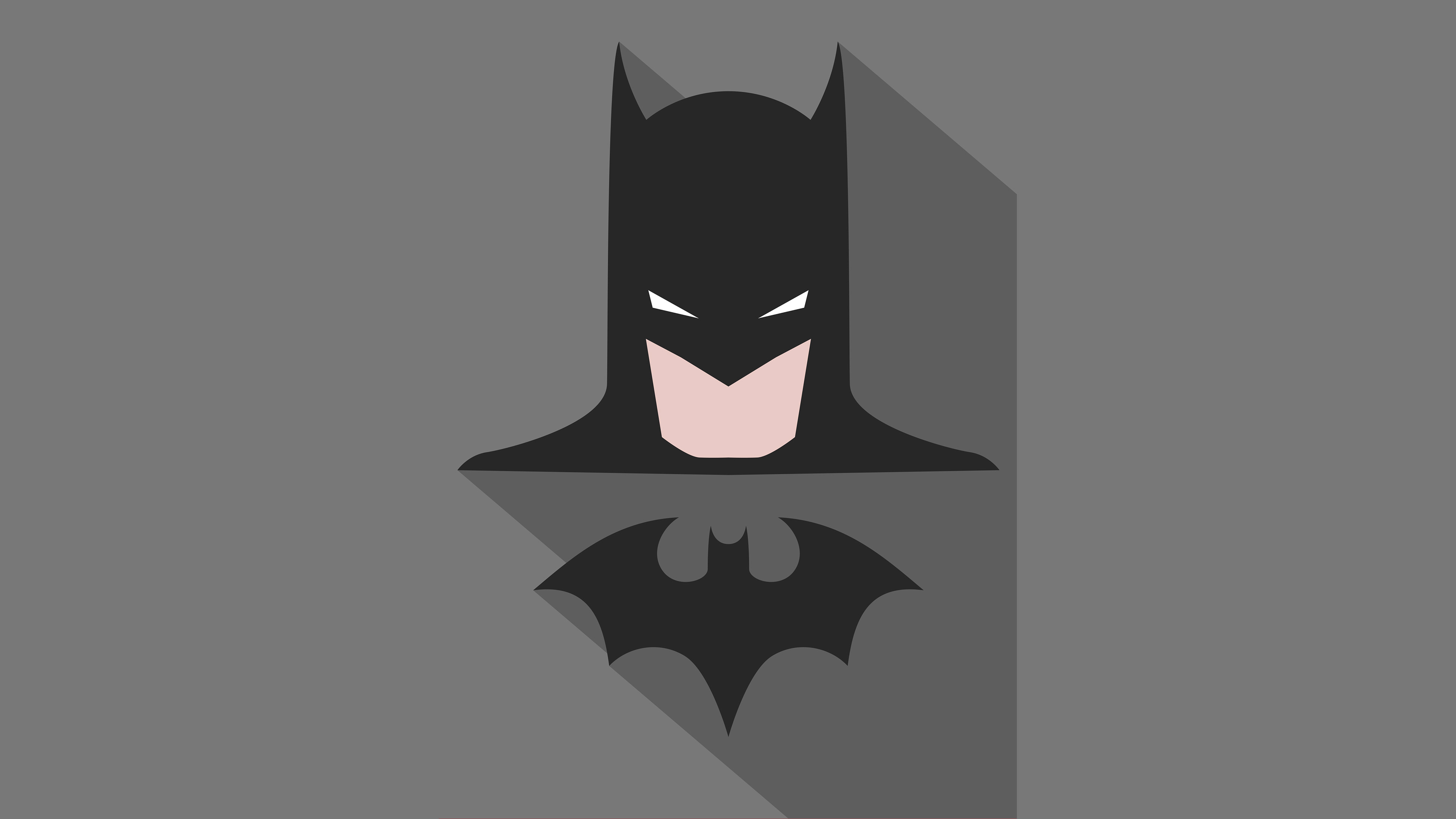 Batman Minimalism Poster, HD Superheroes, 4k Wallpapers