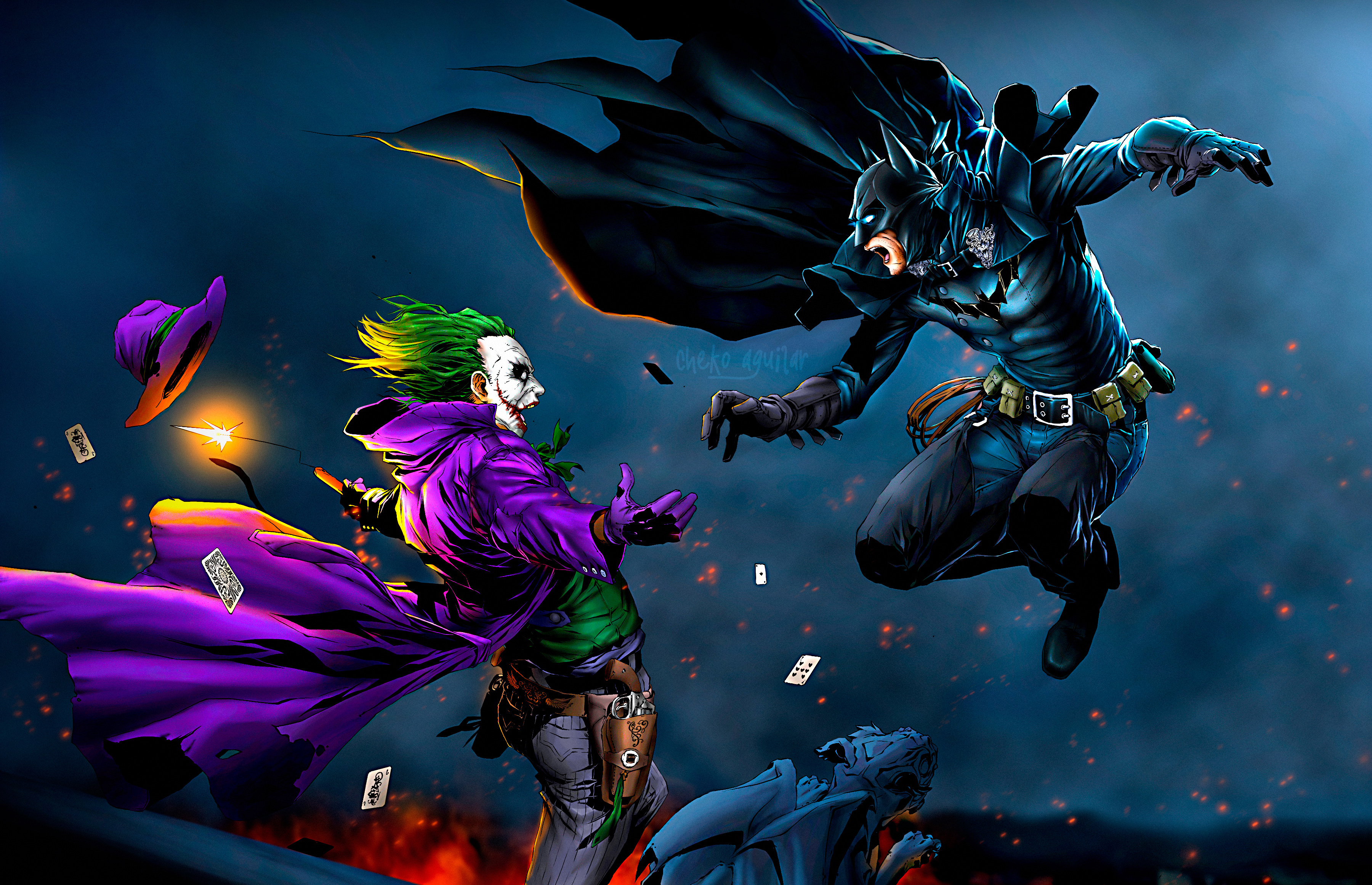 Batman vs joker hd superheroes 4k wallpapers images for Joker wallpaper 4k