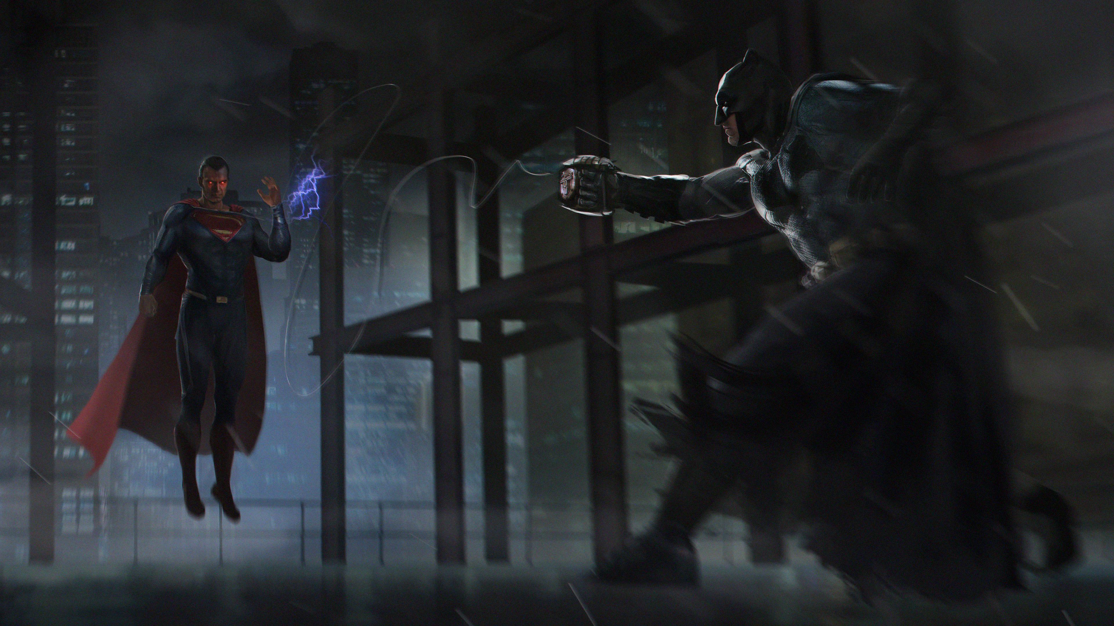 Batman Vs Superman Fight Fan Art 4k Hd Superheroes 4k