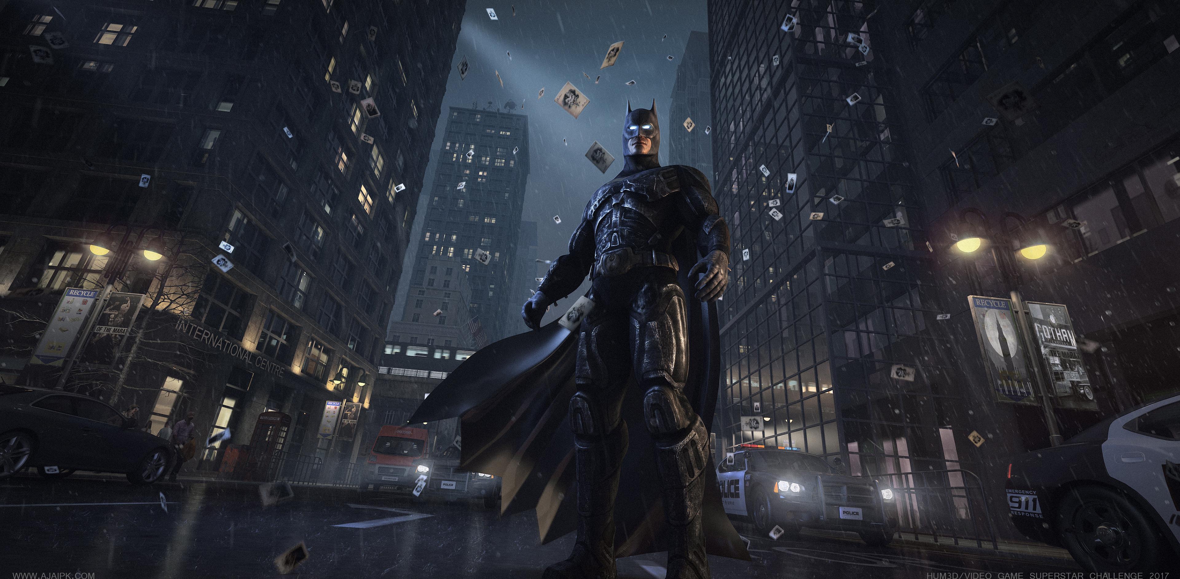 2560x1700 Batman Watching Gotham City Chromebook Pixel Hd 4k