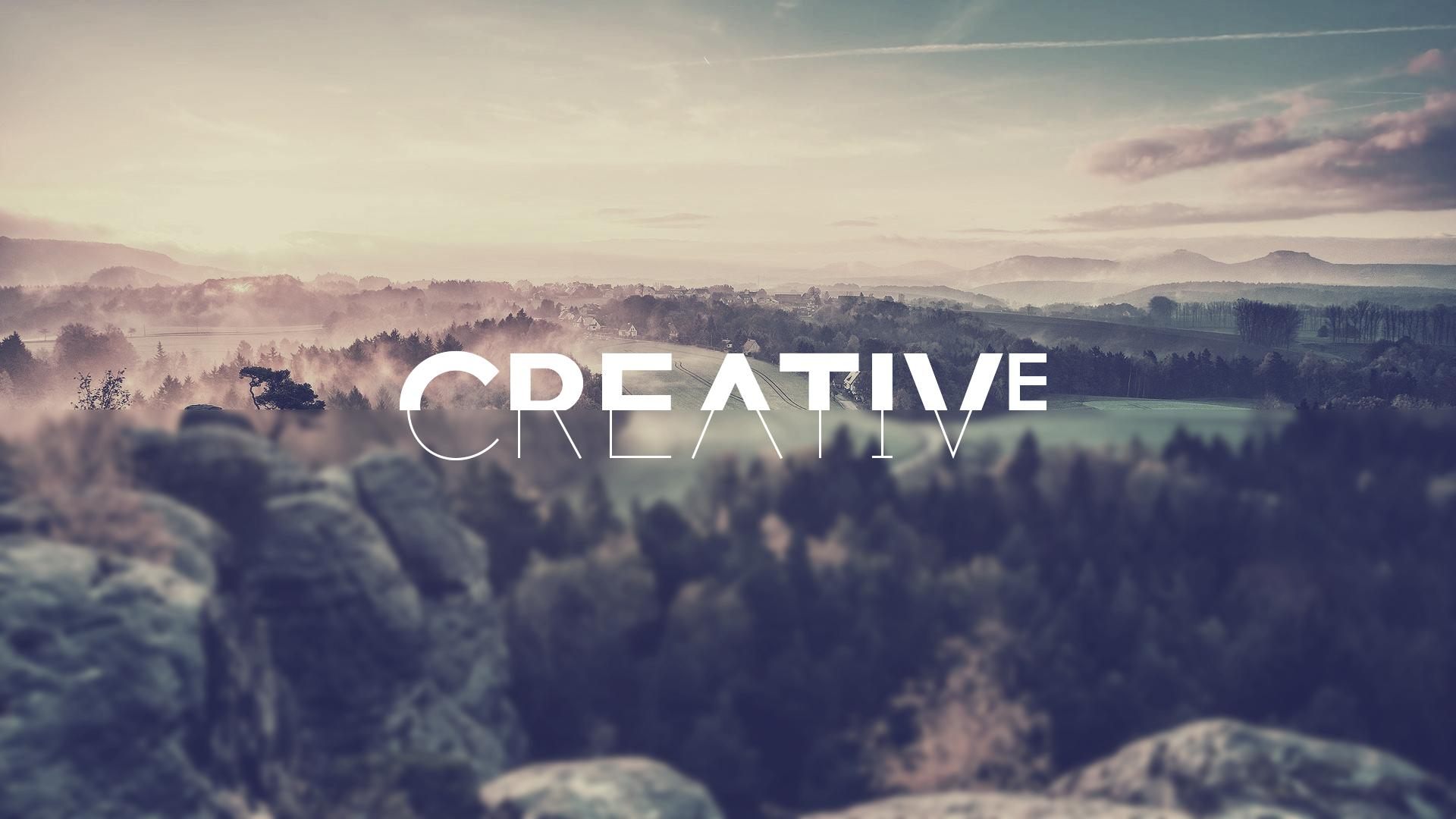 be creative, hd typography, 4k wallpapers, images, backgrounds