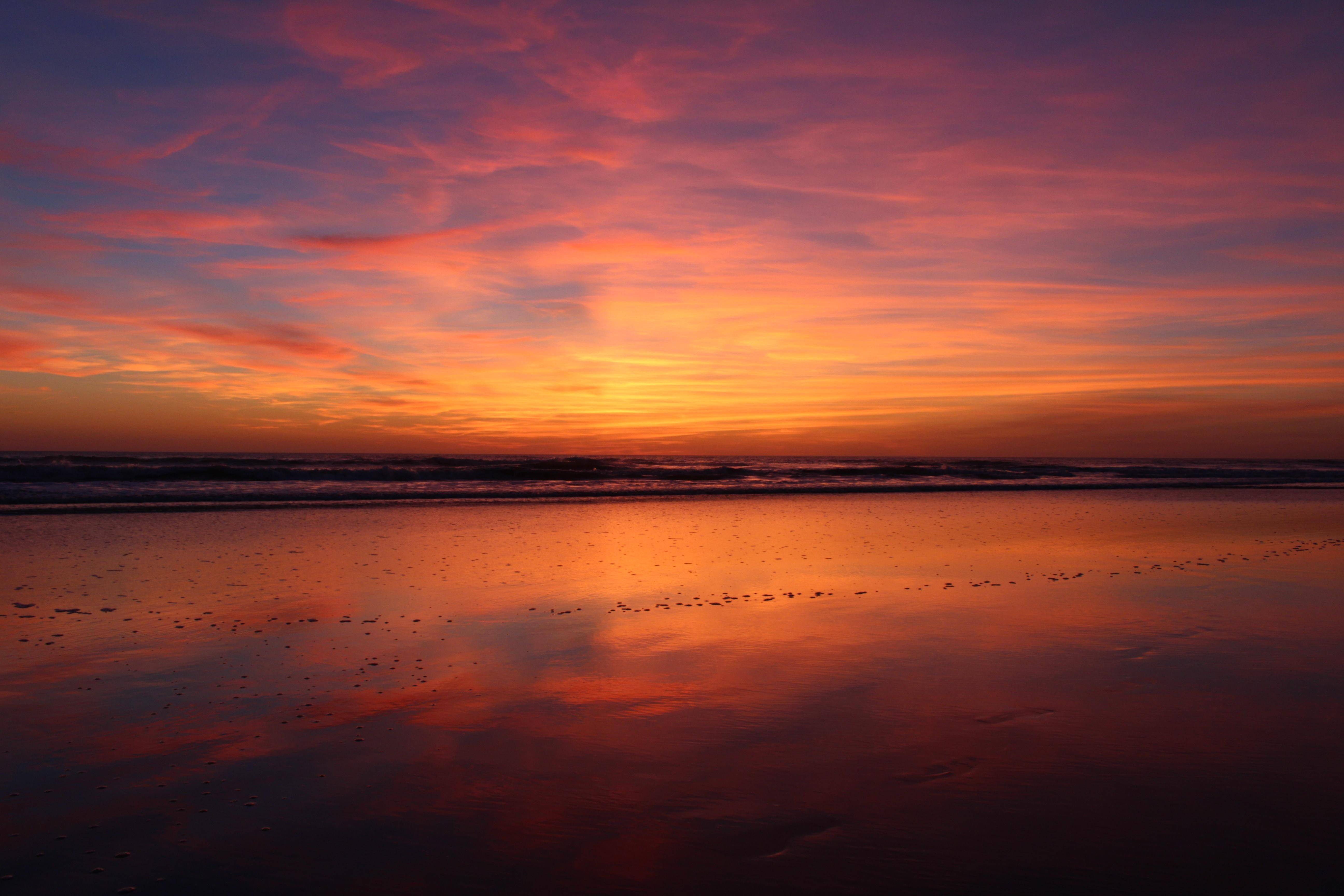 2560x1440 Beach Sunset Evening 4k 1440P Resolution HD 4k ...