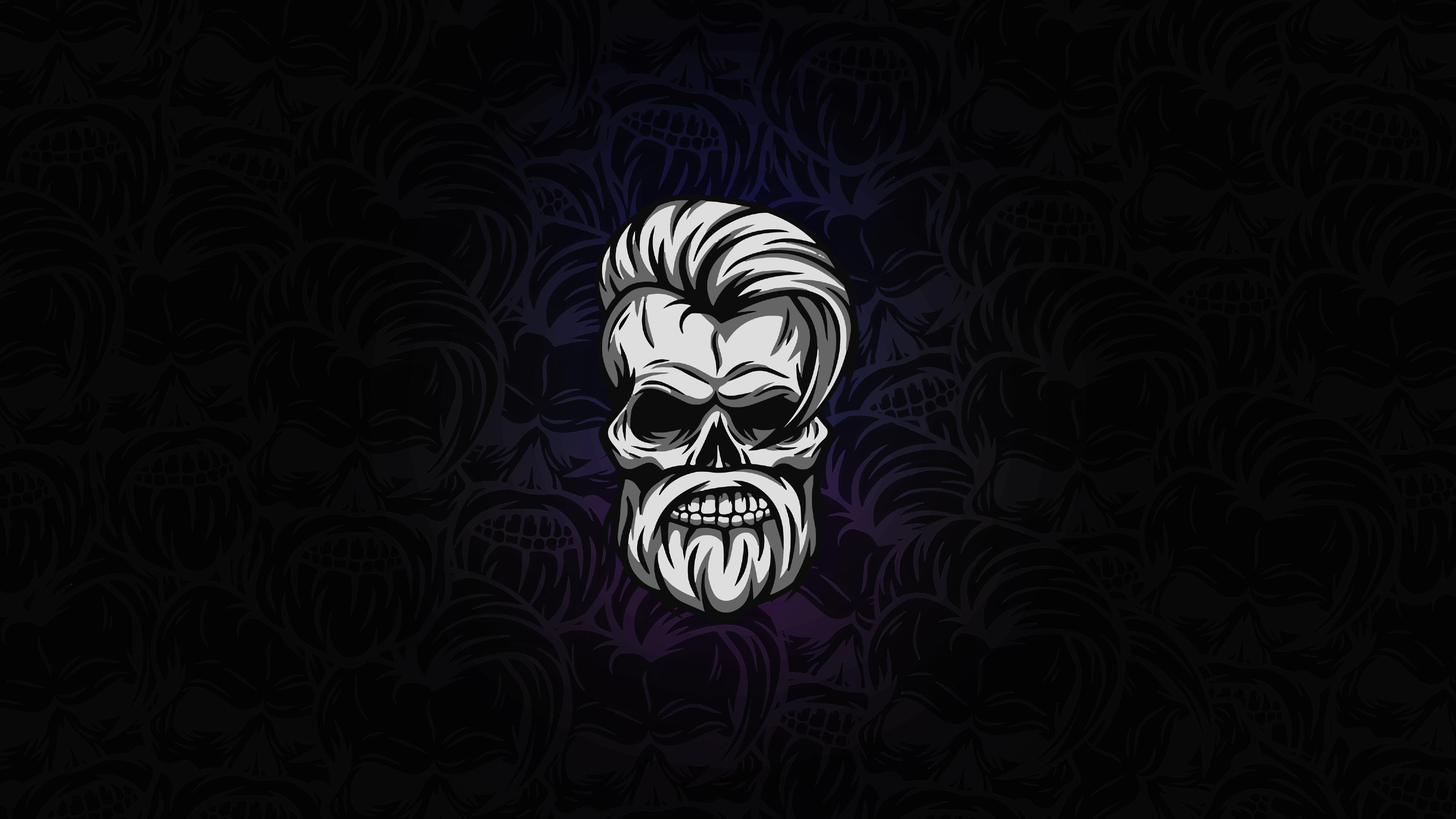 Beard Skull Dark 4k Hd Artist 4k Wallpapers Images