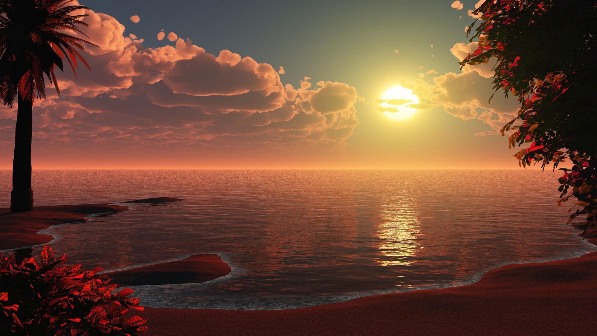 Iphone 6 Wallpaper Beach Tumblr Best Wallpaper: 1080x1920 Beautiful Beach Sunset Artwork Iphone 7,6s,6