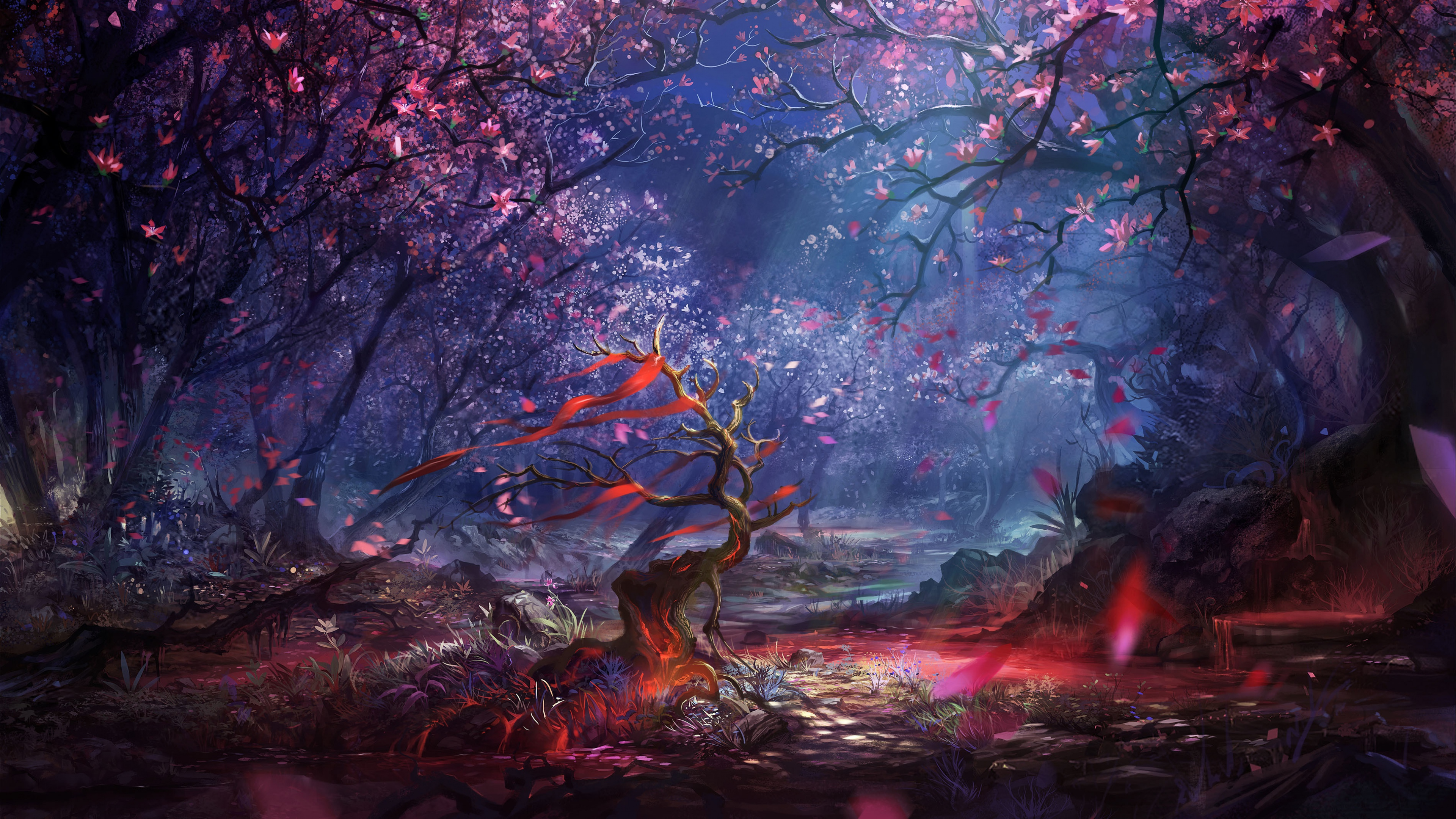 Stunning Hd Fantasy Gaming Desktop Wallpapers: Beautiful Forest Art, HD Artist, 4k Wallpapers, Images