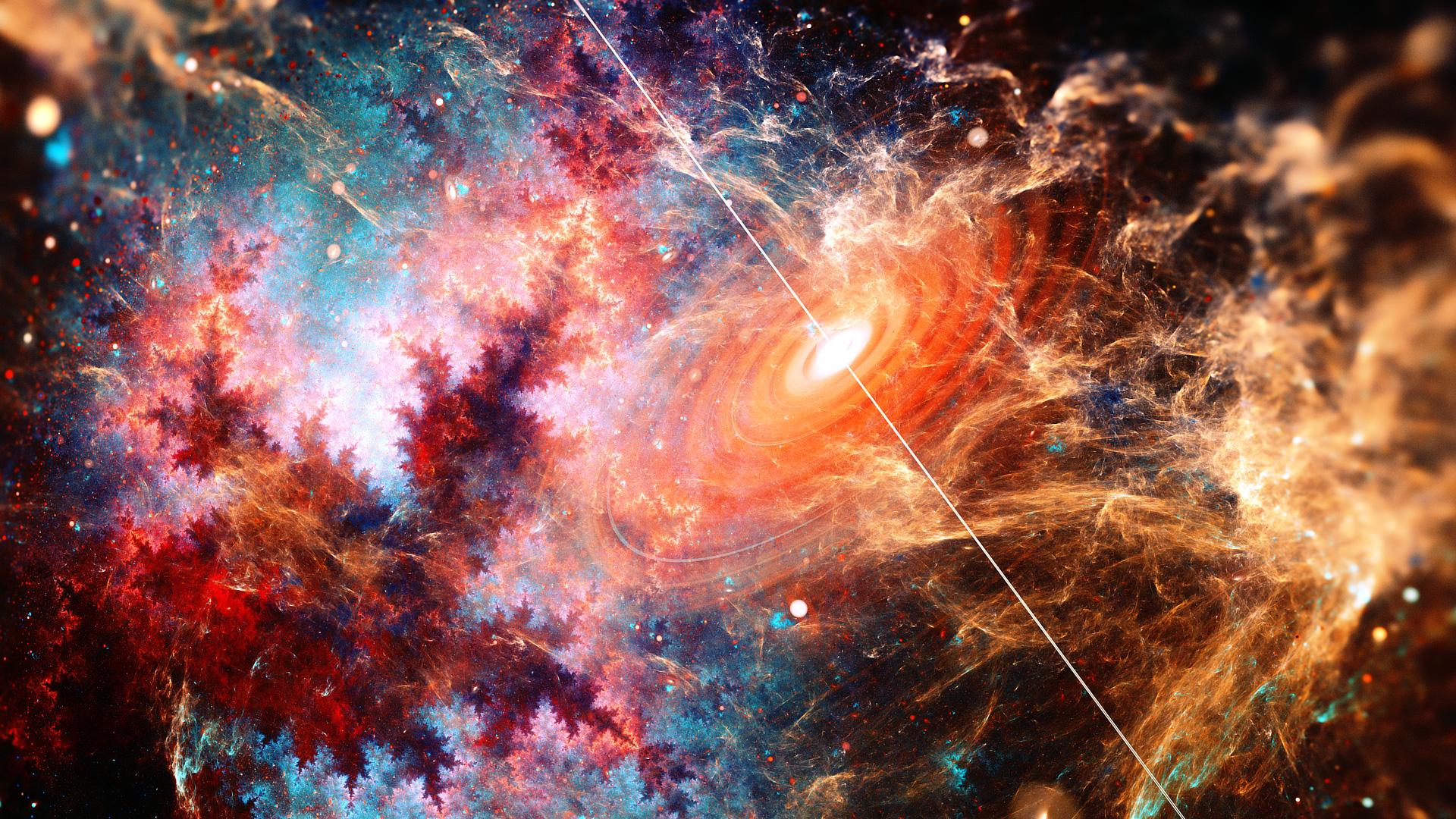 Beautiful Galaxy Fractal Art Hd Digital Universe 4k