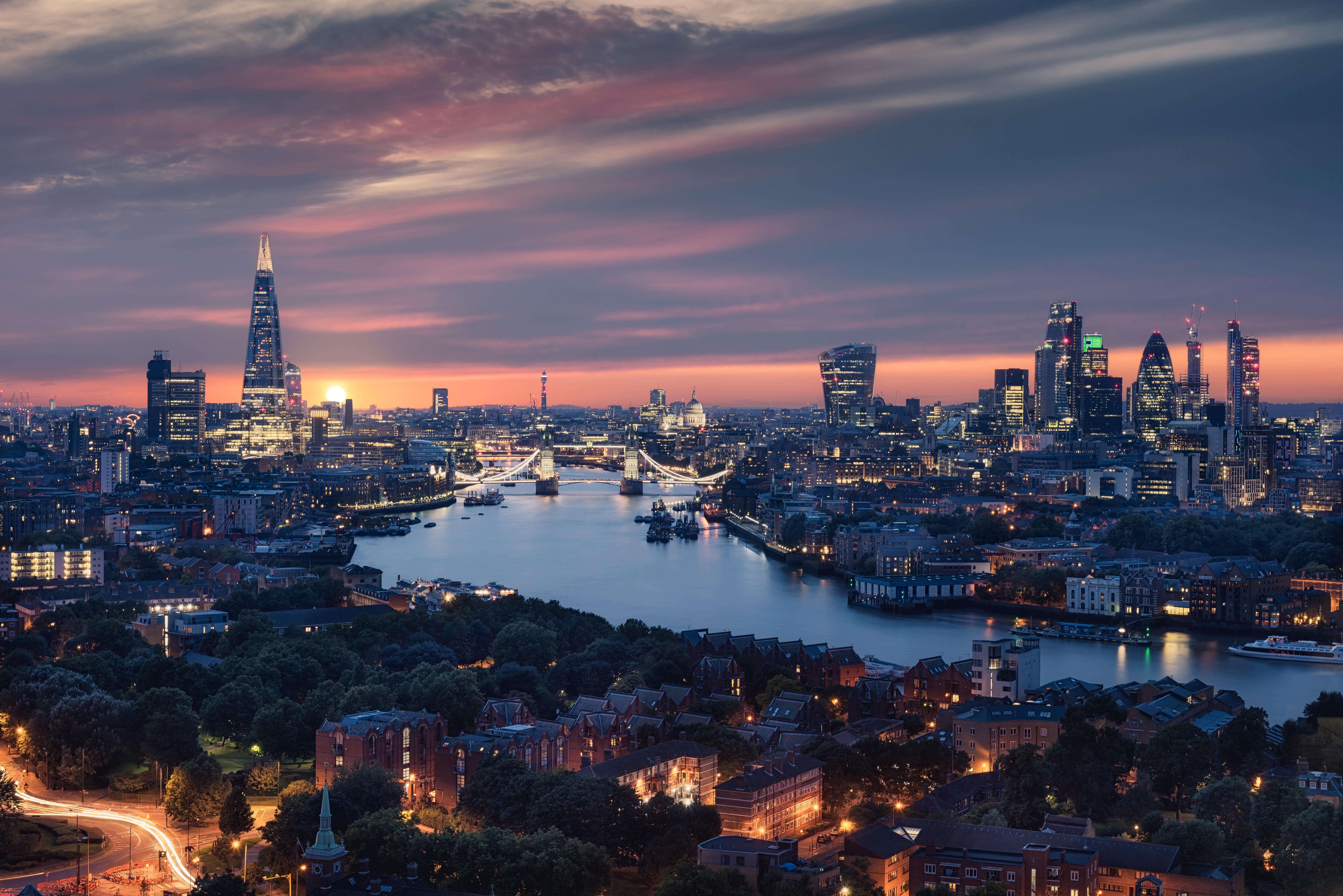 Beautiful London City View 8k, HD World, 4k Wallpapers