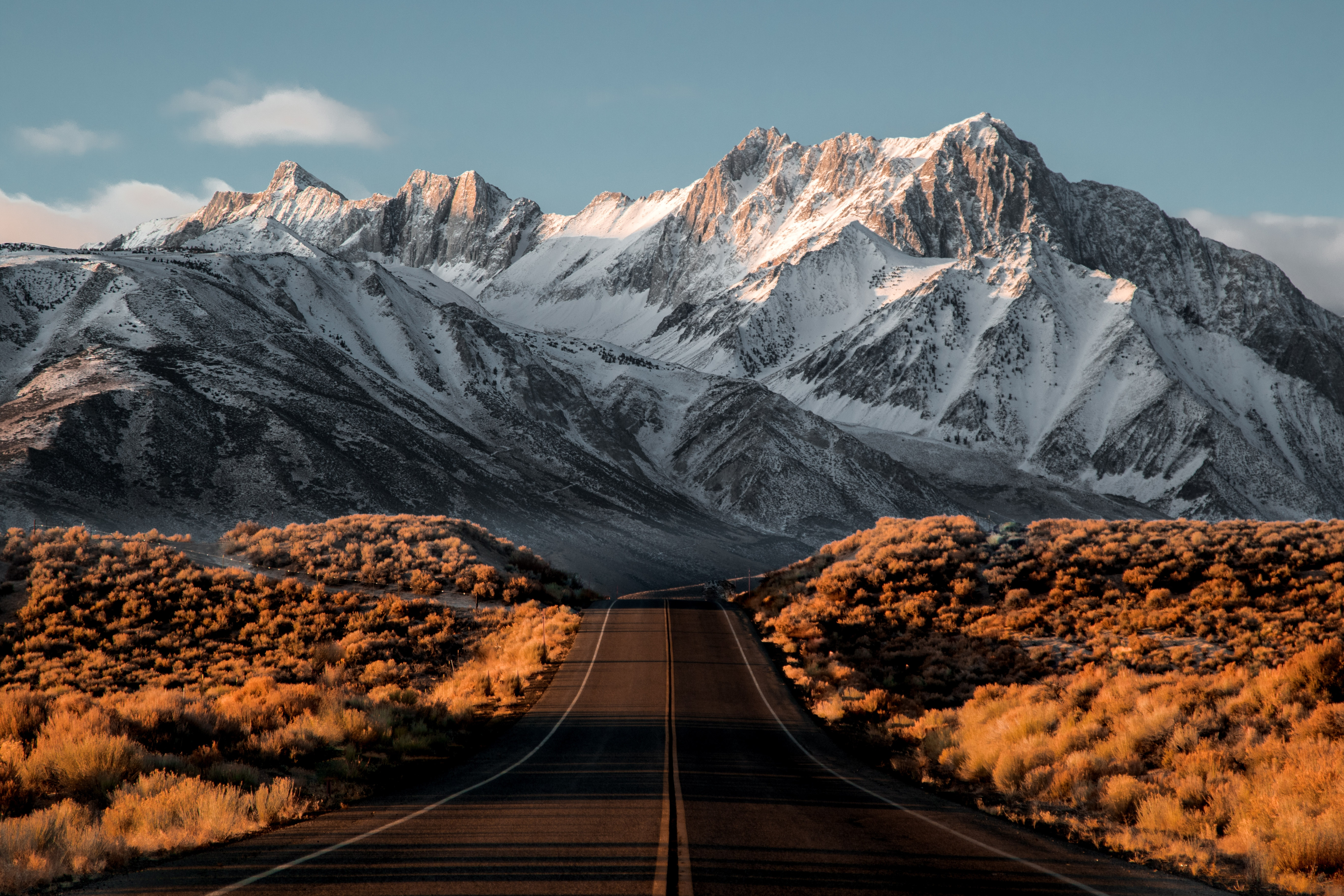 Beautiful Snowy Mountains Road, HD Nature, 4k Wallpapers ...