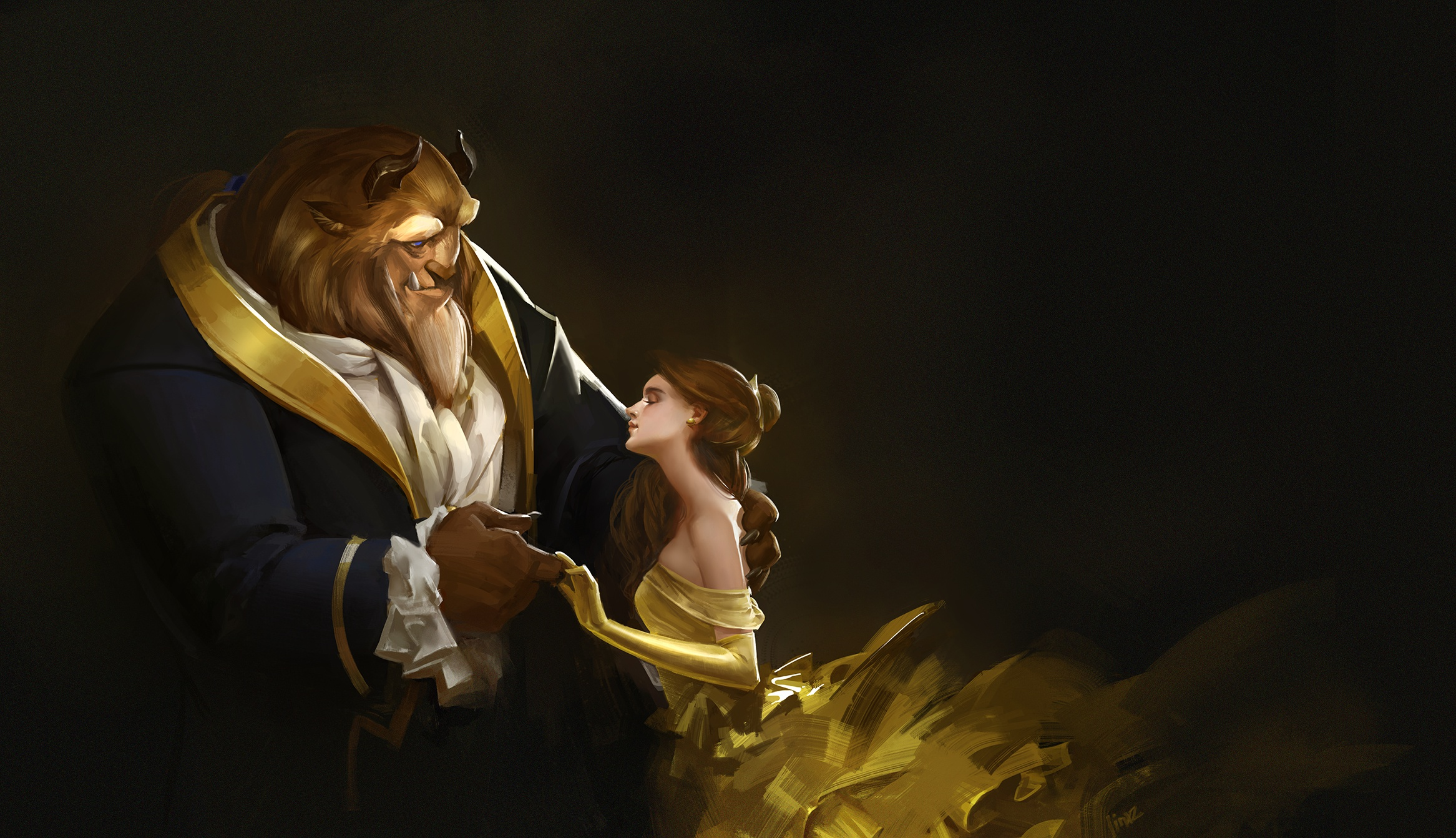 Beauty And The Beast Artwork, HD Movies, 4k Wallpapers