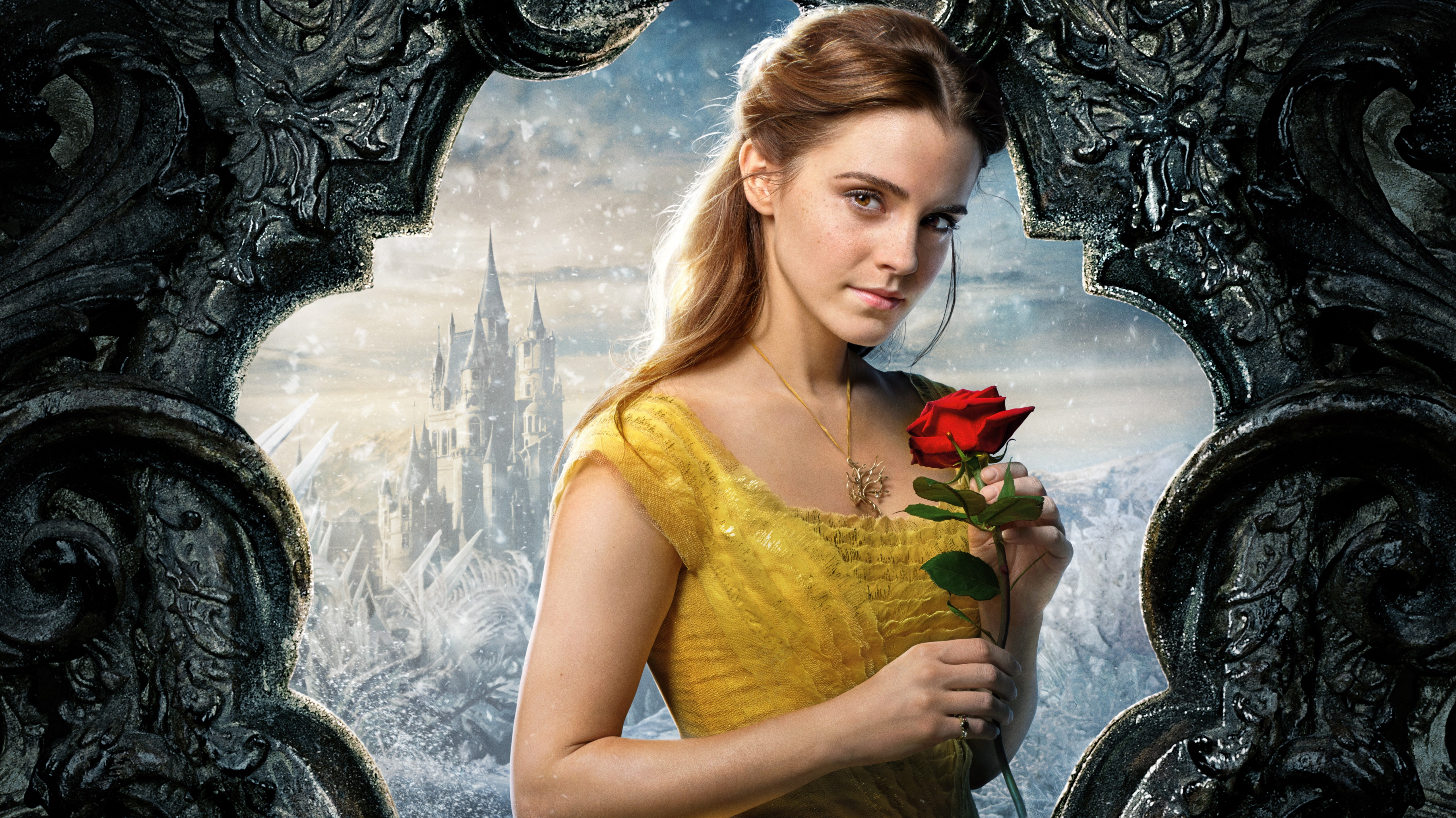 beauty and the beast emma watson, hd movies, 4k wallpapers, images