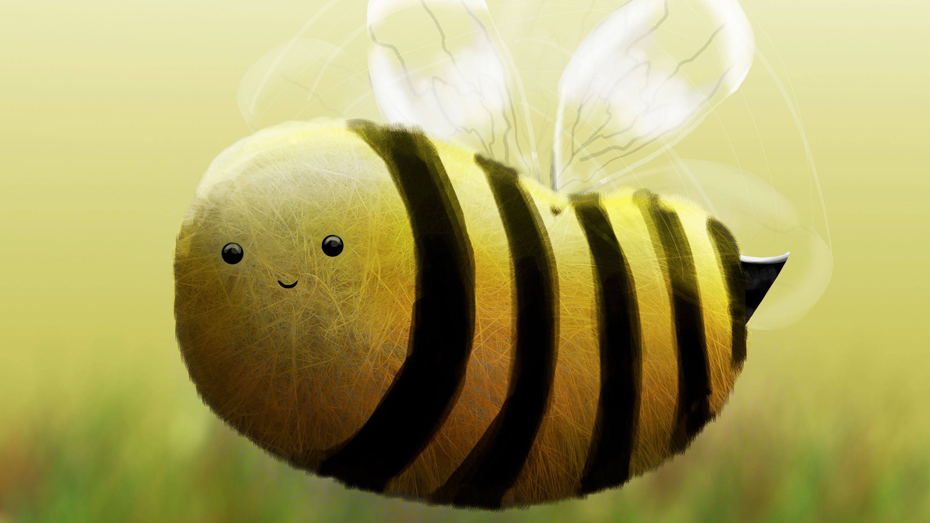 Bee Illustration Hd Animals 4k Wallpapers Images