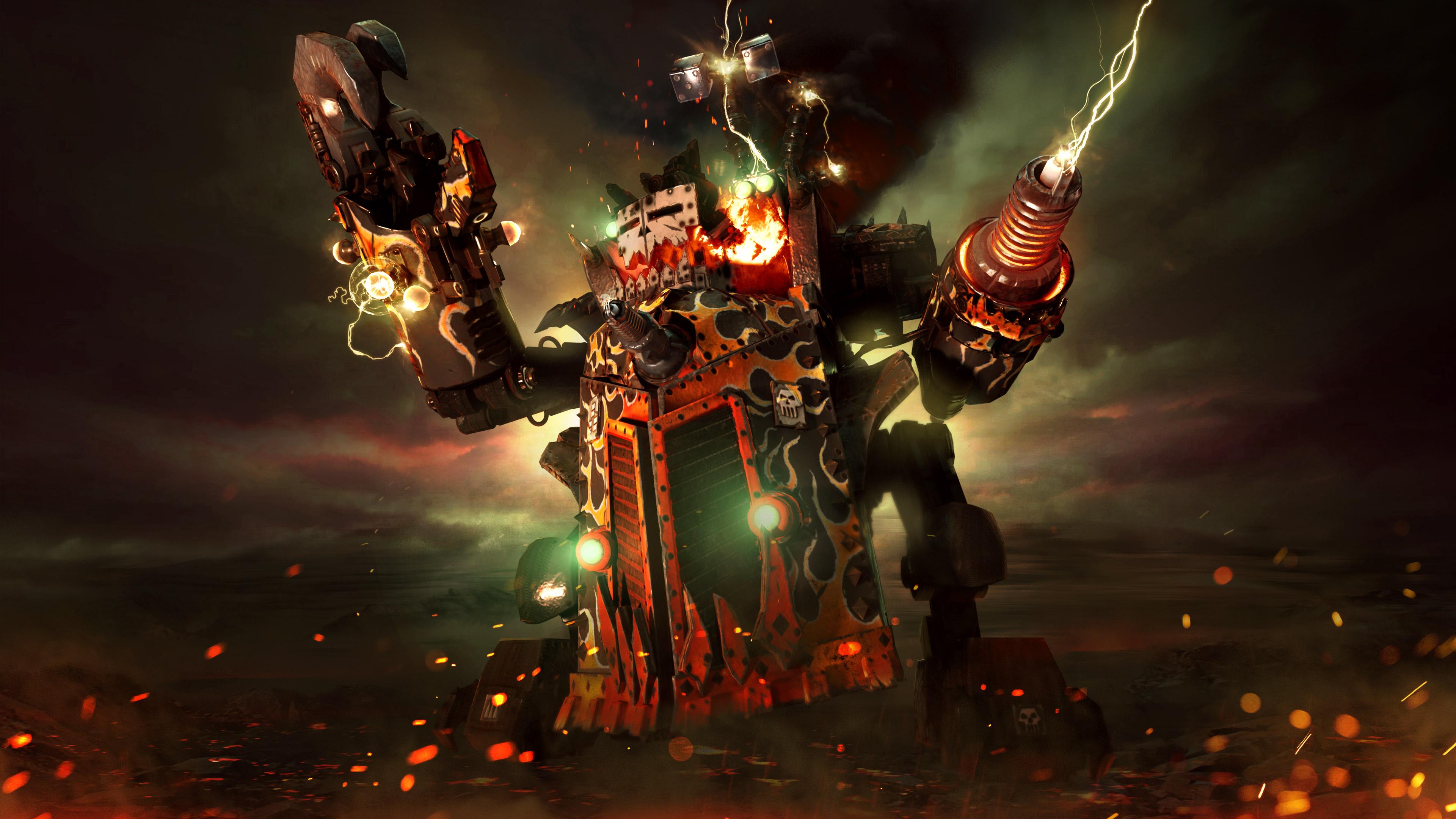 Dawn Of War 1920x1080: Big Kustom Beauty Da Morkanaut Warhammer 40000 Dawn Of War