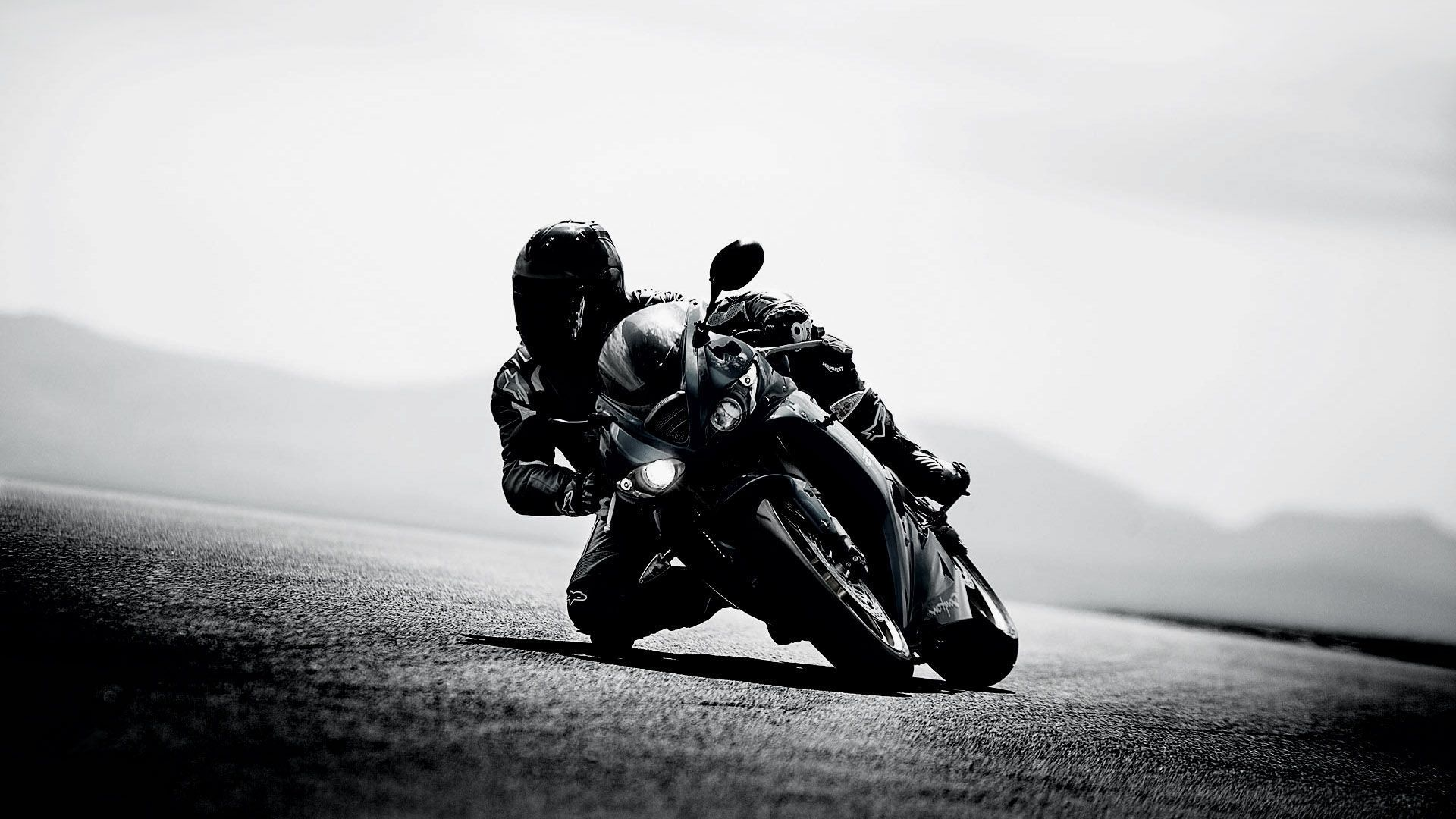bike black and white, hd bikes, 4k wallpapers, images, backgrounds