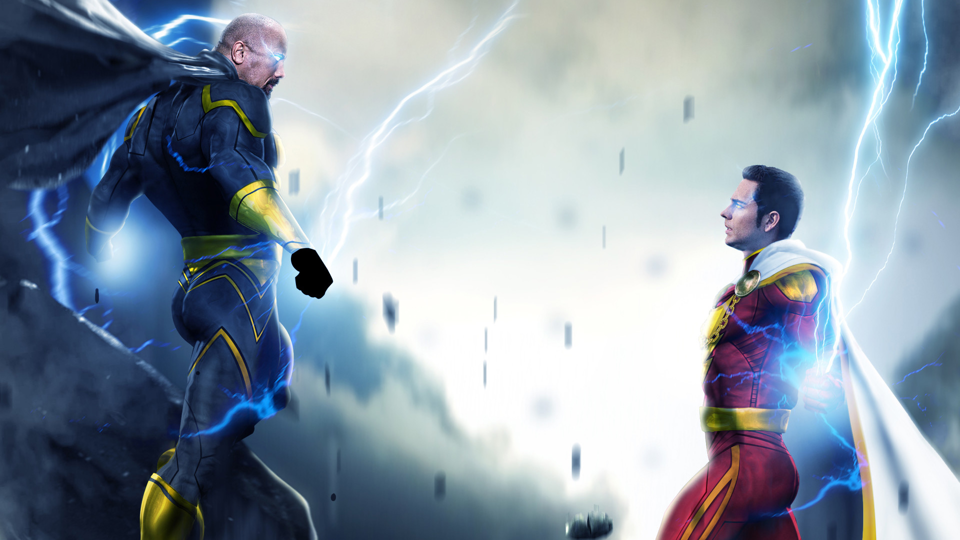 Black Adam And Shazam Hd Superheroes 4k Wallpapers Images
