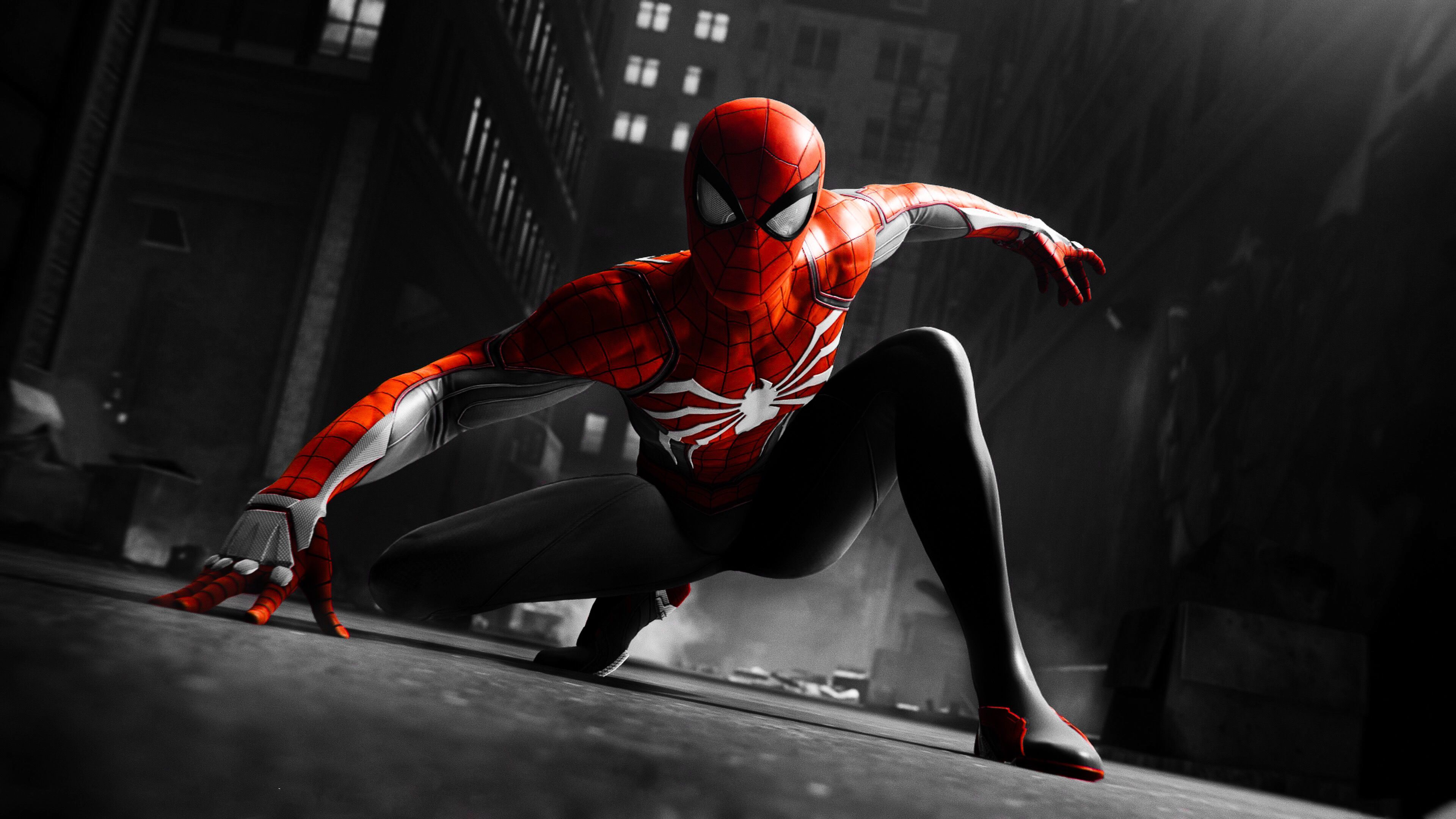 Black And Red Spiderman 4k Hd Superheroes 4k Wallpapers Images