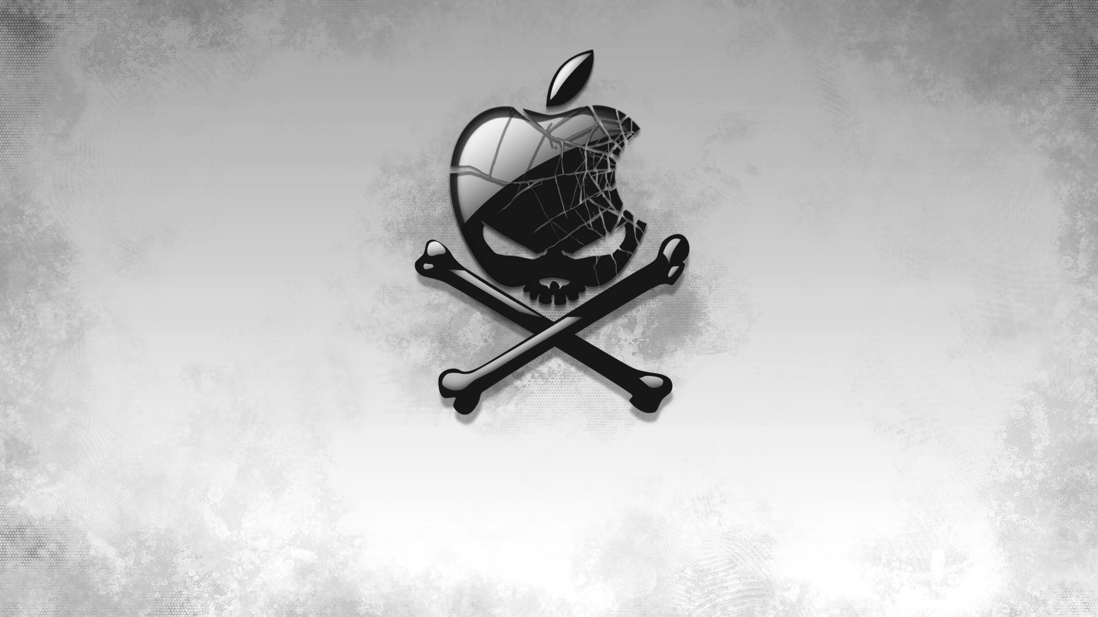 2880x1800 black apple skull macbook pro retina hd 4k wallpapers
