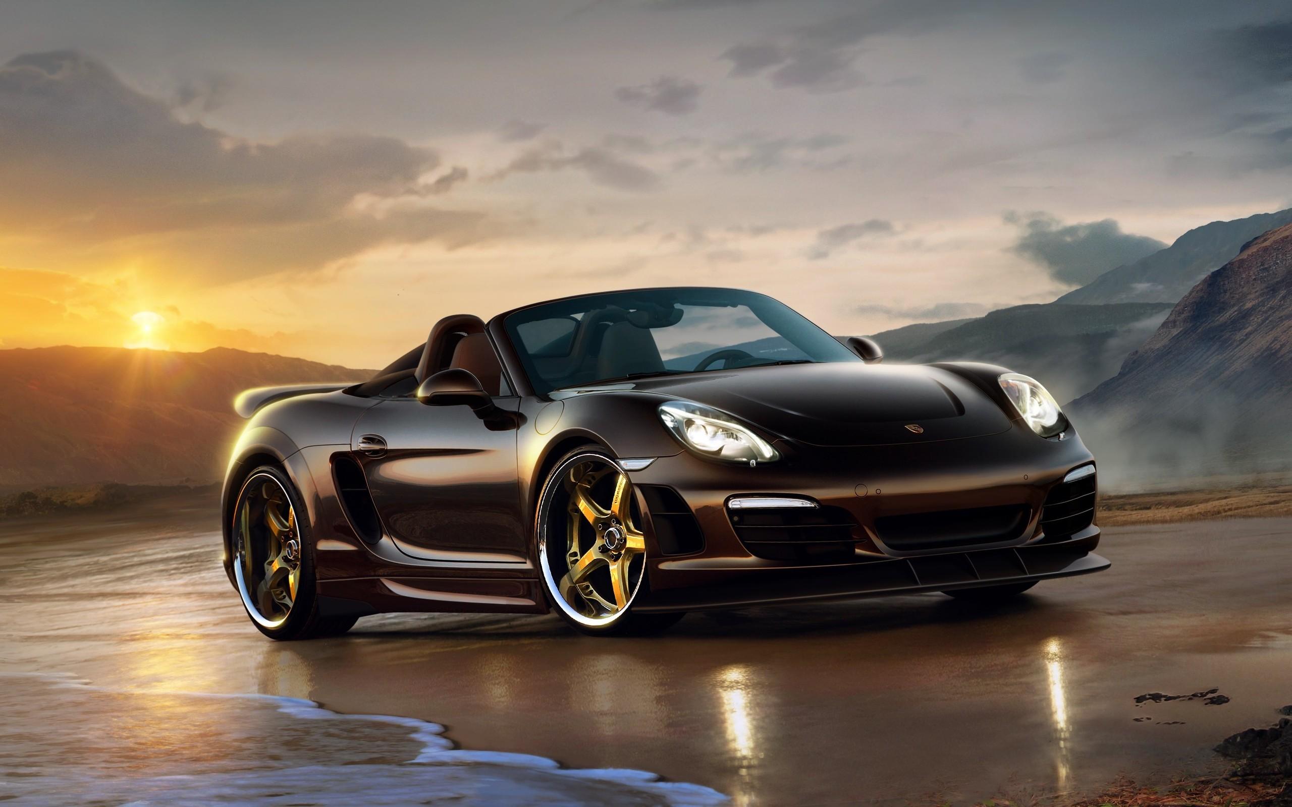 Custom Wallpaper 4k Pubattlegrounds: Black Custom Porsche, HD Cars, 4k Wallpapers, Images