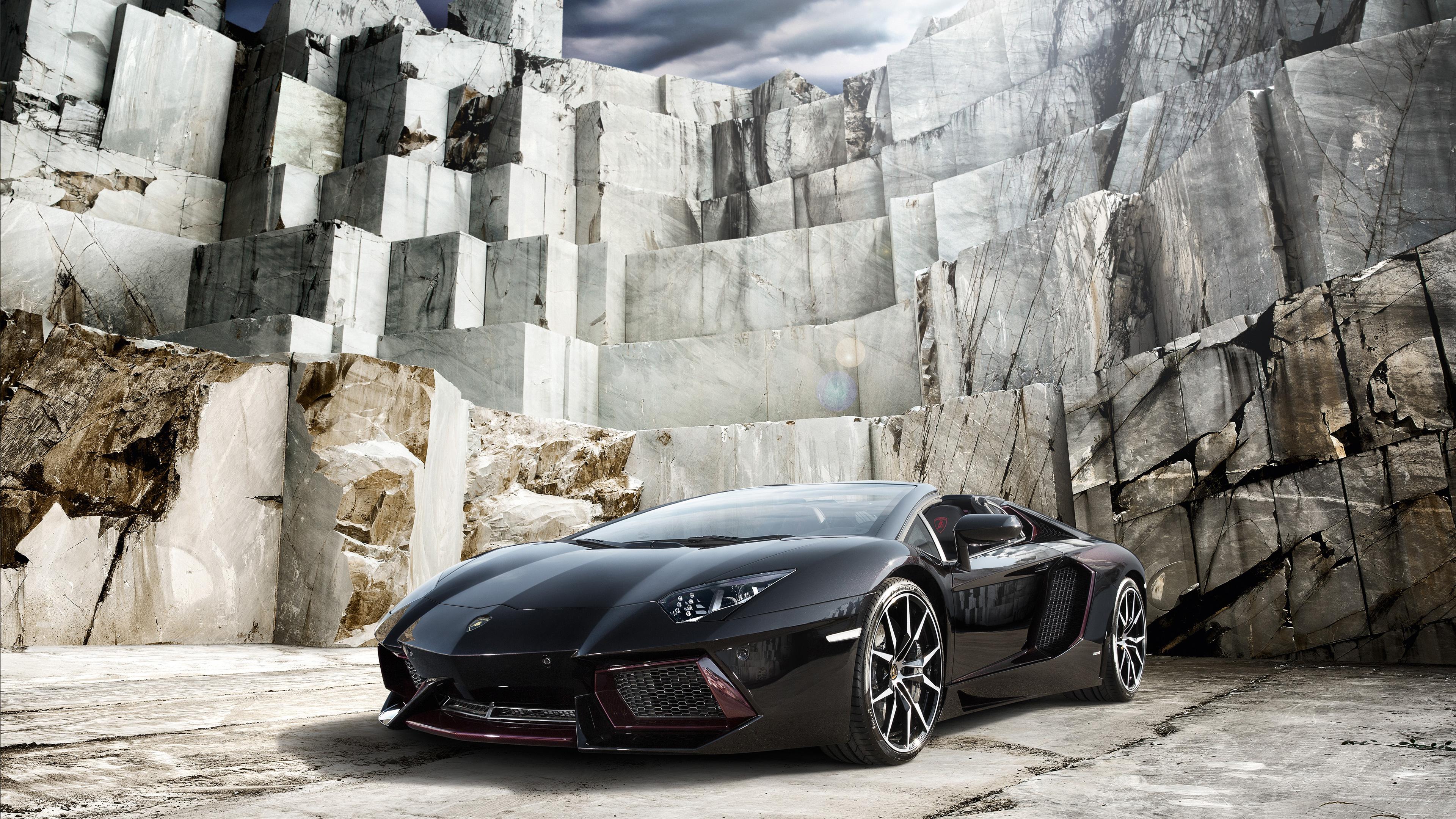 Black Lamborghini Aventador 4k, HD Cars, 4k Wallpapers ...