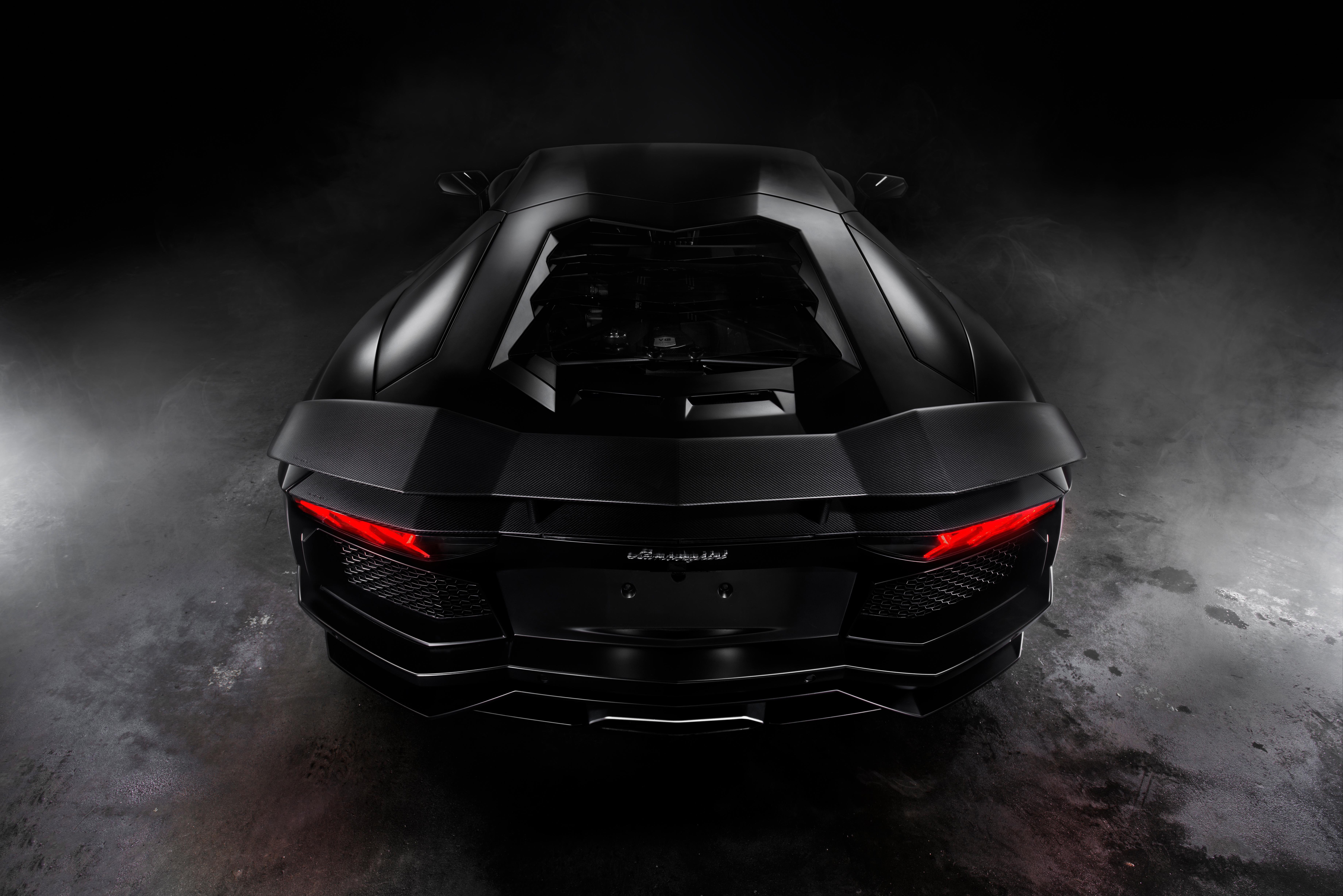 Black Lamborghini Aventador 8k Hd Cars 4k Wallpapers