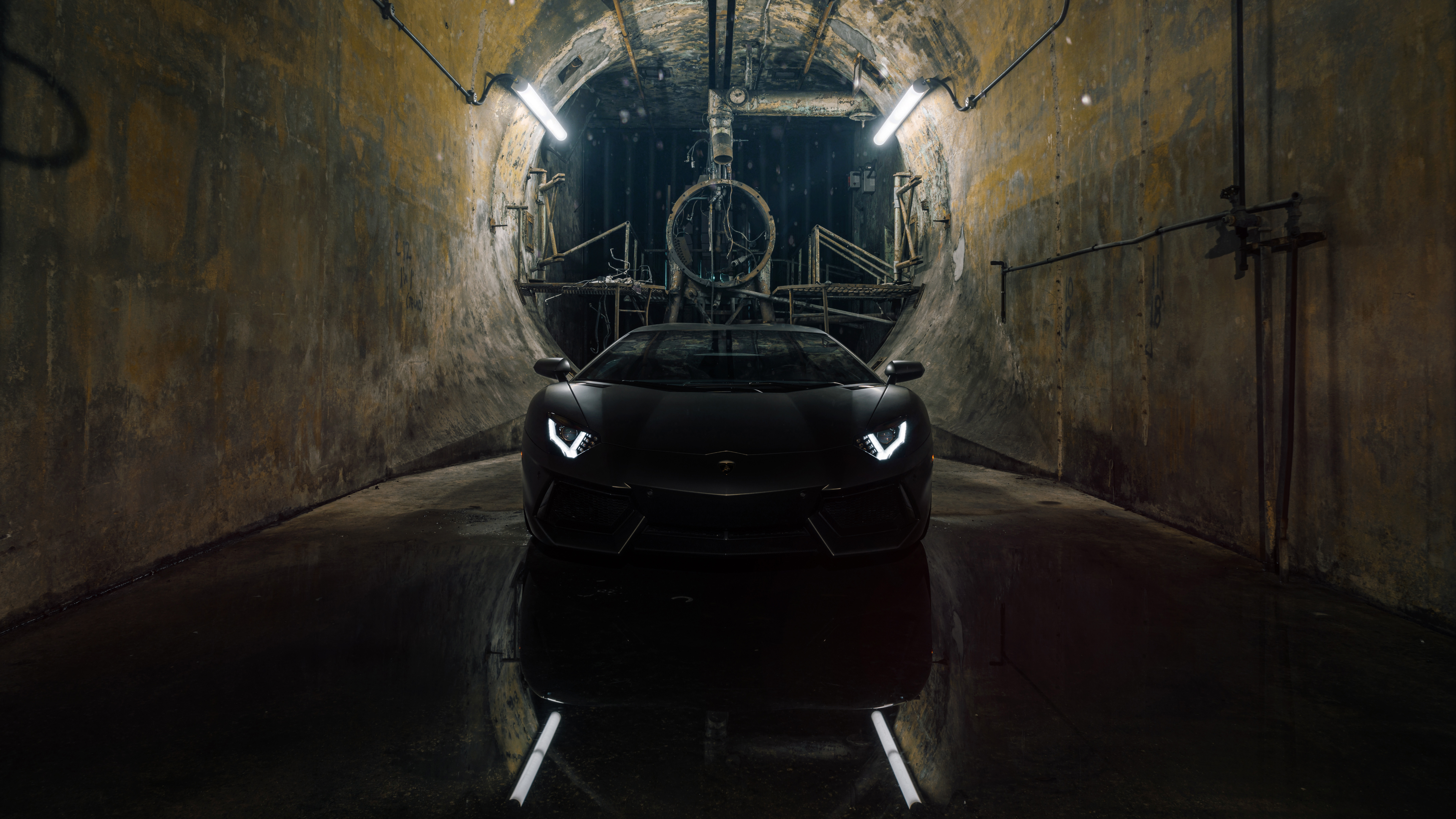 Black Lamborghini Aventador HD Cars 4k Wallpapers Images