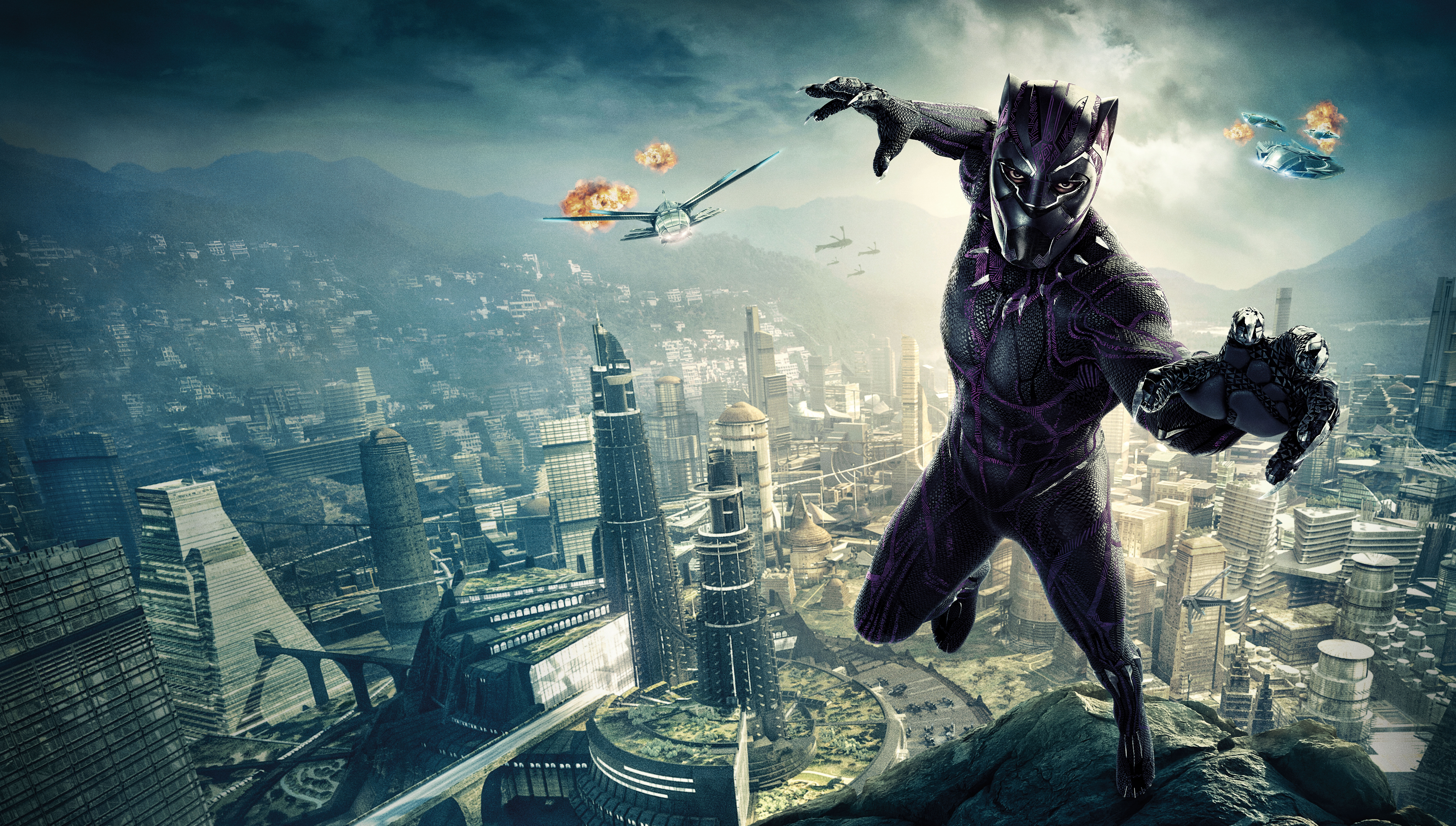 Black panther 10k poster hd movies 4k wallpapers images - 10k wallpaper nature ...