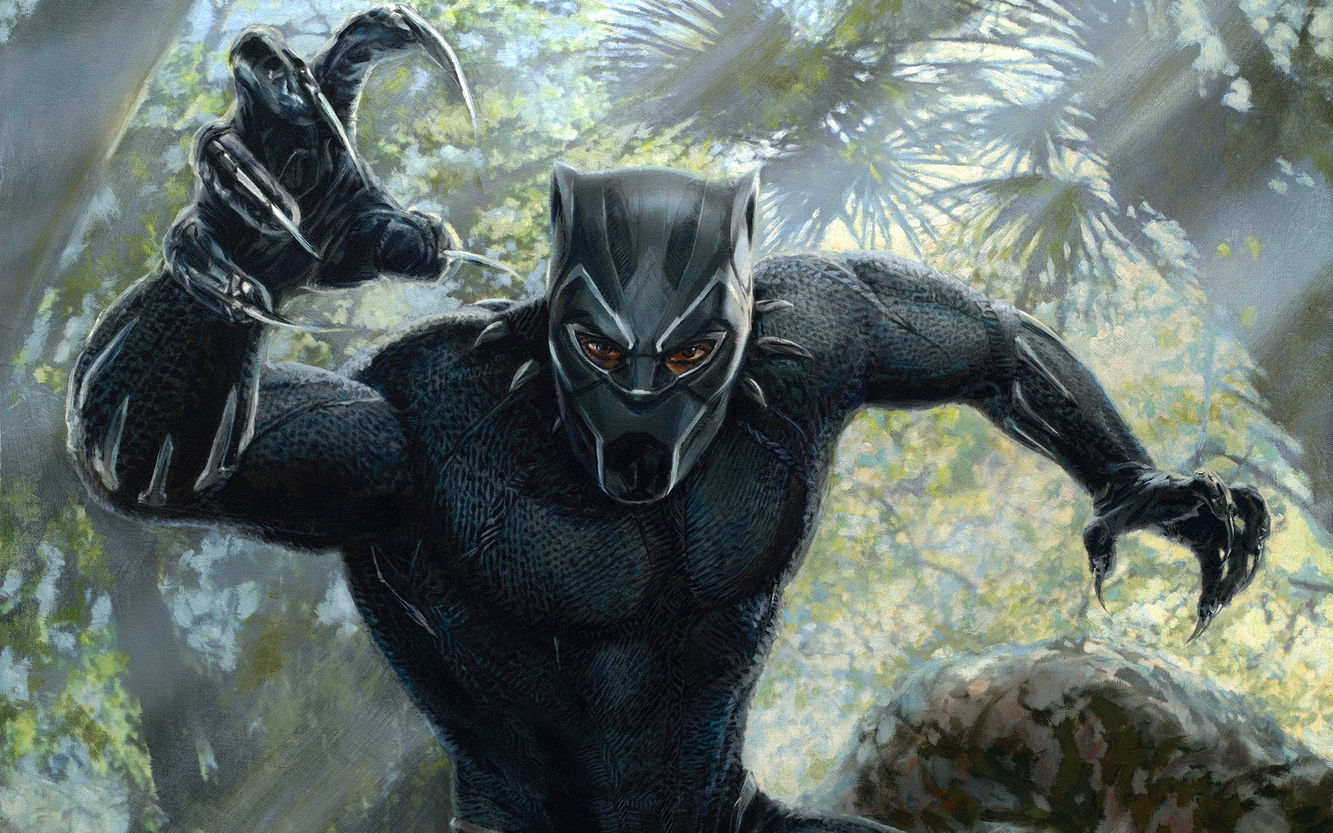 Black Panther 2018 Movie Still Full Hd Wallpaper: 1920x1080 Black Panther 2018 Movie Artwork Laptop Full HD