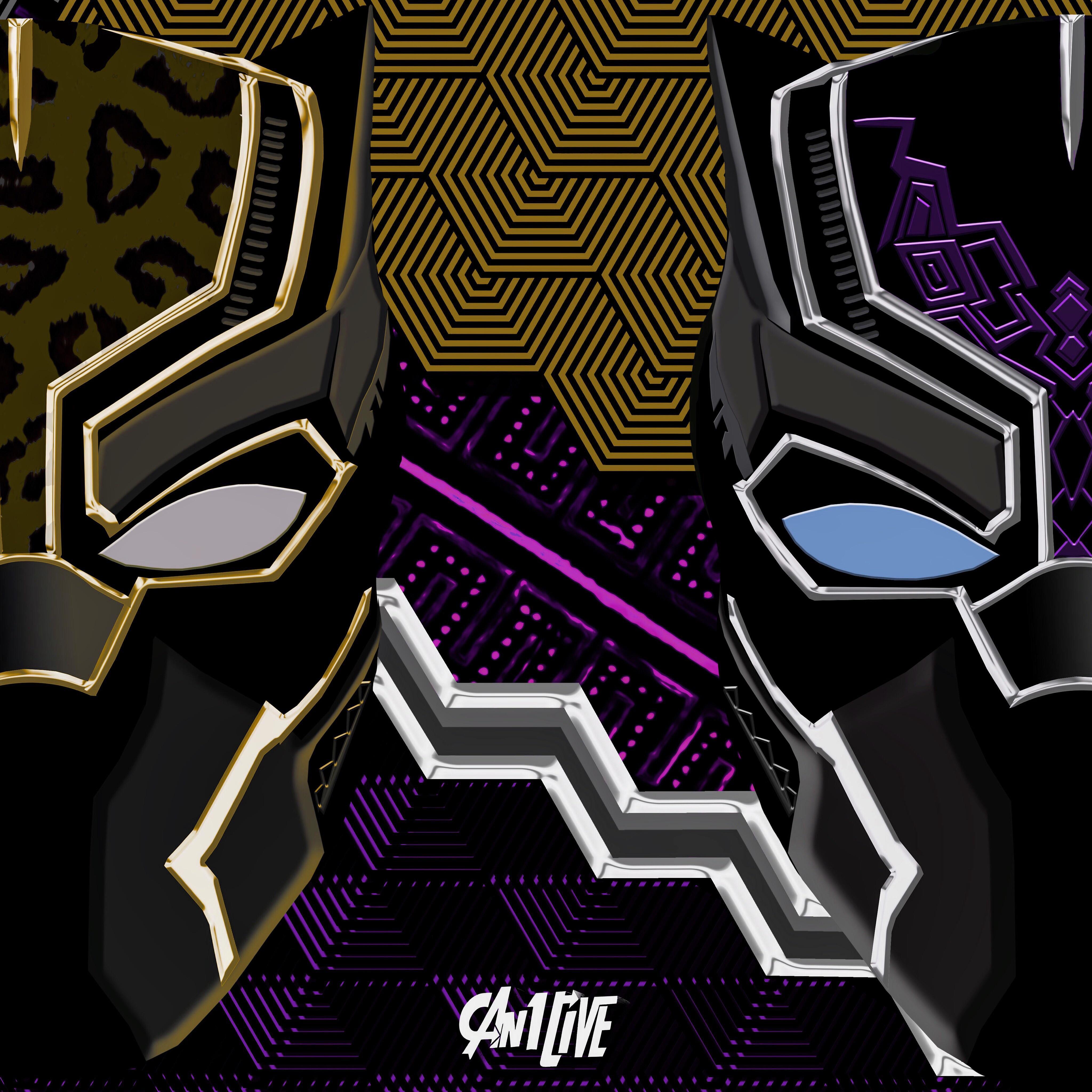 2160x3840 black panther and erik killmonger artwork 4k - Art wallpaper 2160x3840 ...