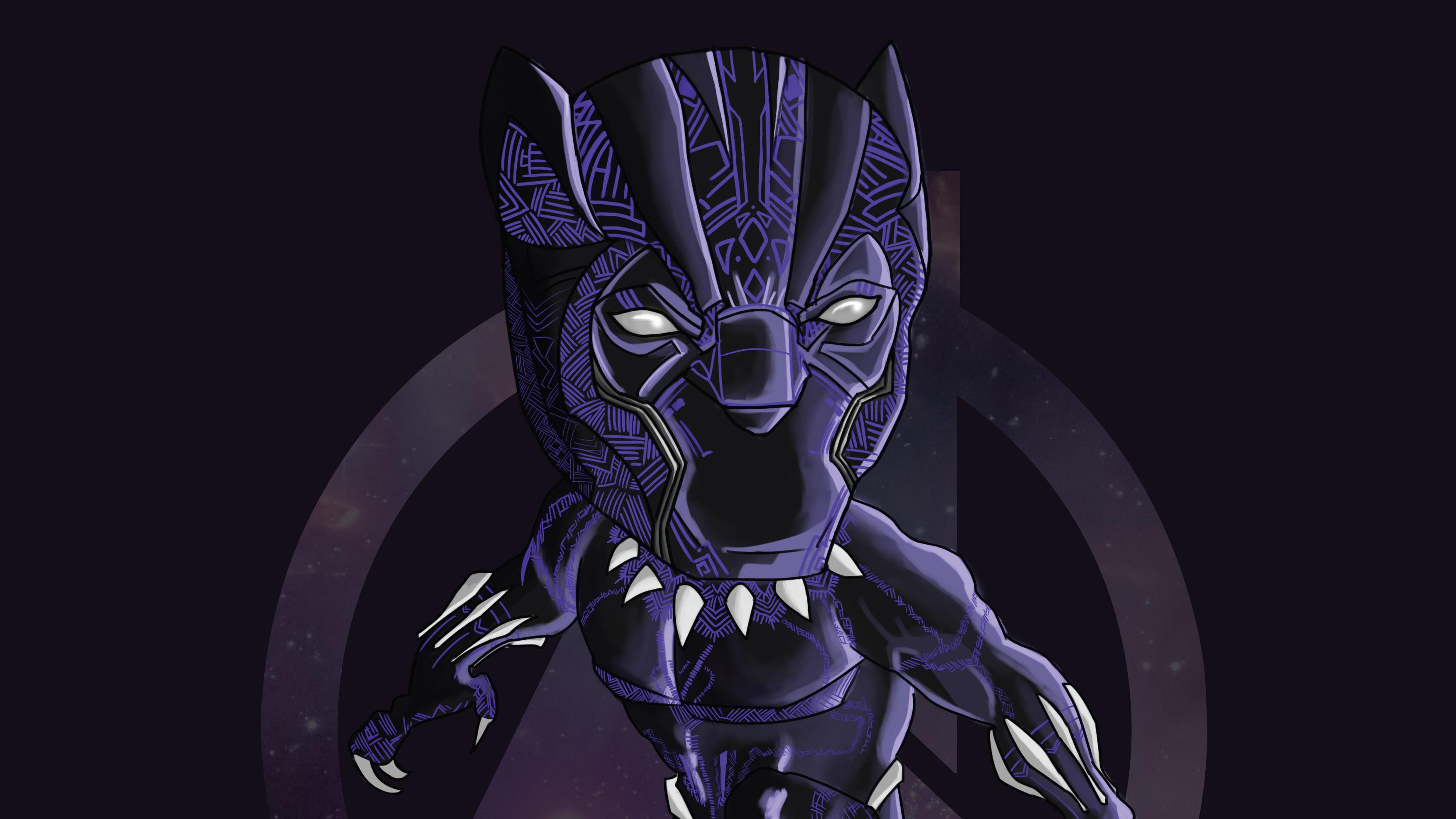 Black Panther Doodle Art Hd Superheroes 4k Wallpapers