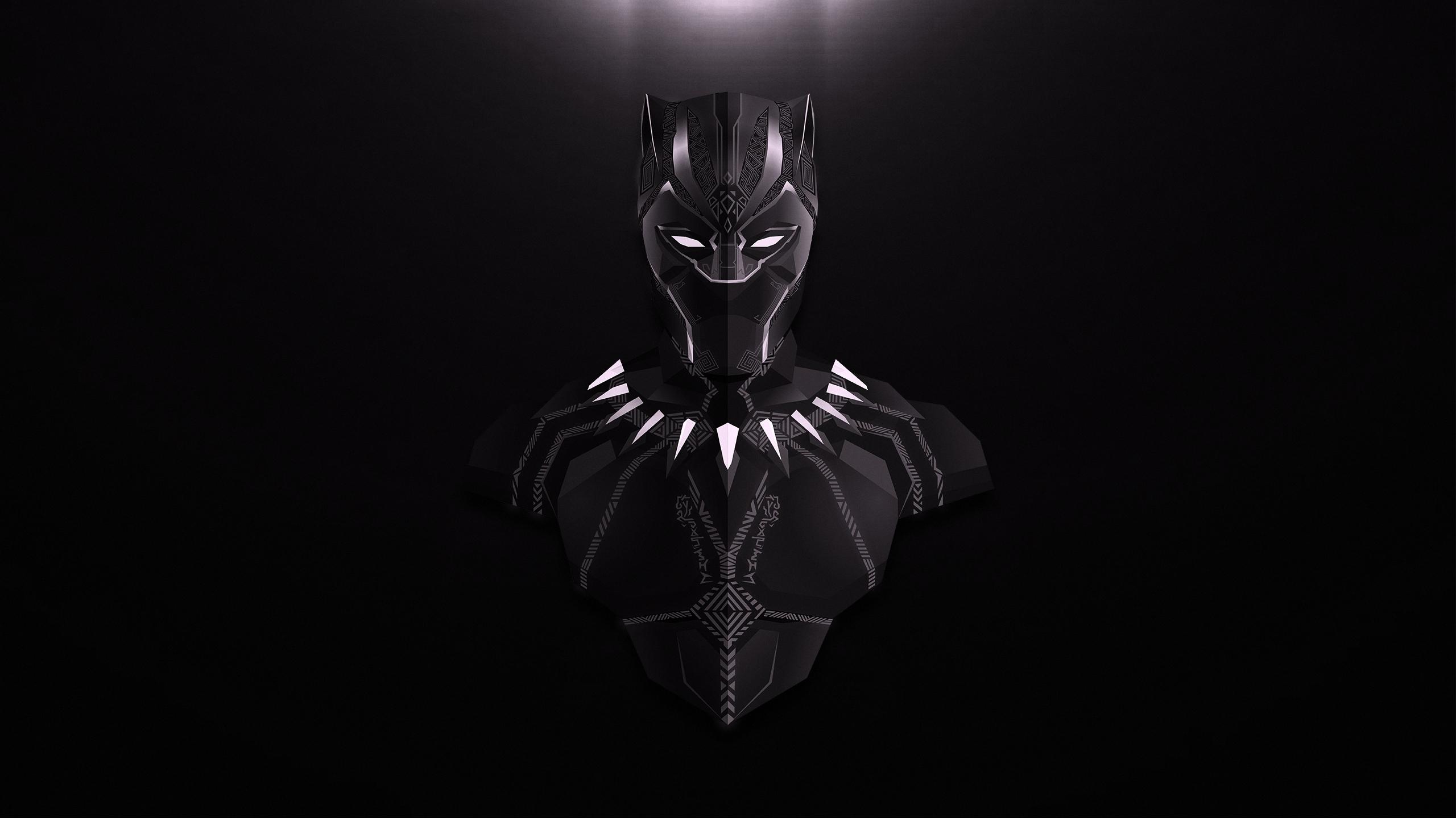 Black Panther Lowpoly Minimalist, HD Superheroes, 4k ...