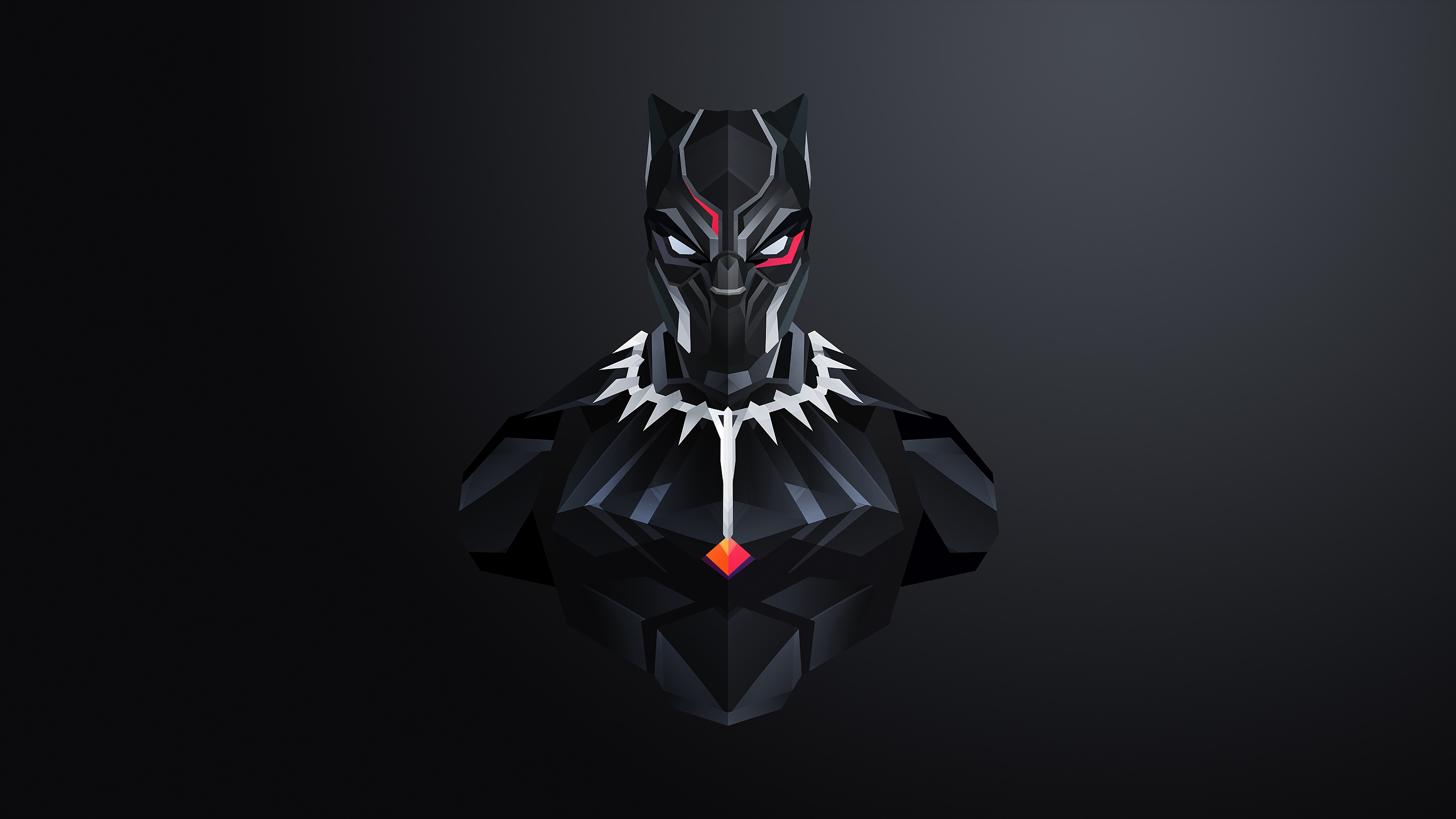 Black Panther 2018 Movie Still Full Hd Wallpaper: Black Panther Minimalism 2018, HD Movies, 4k Wallpapers