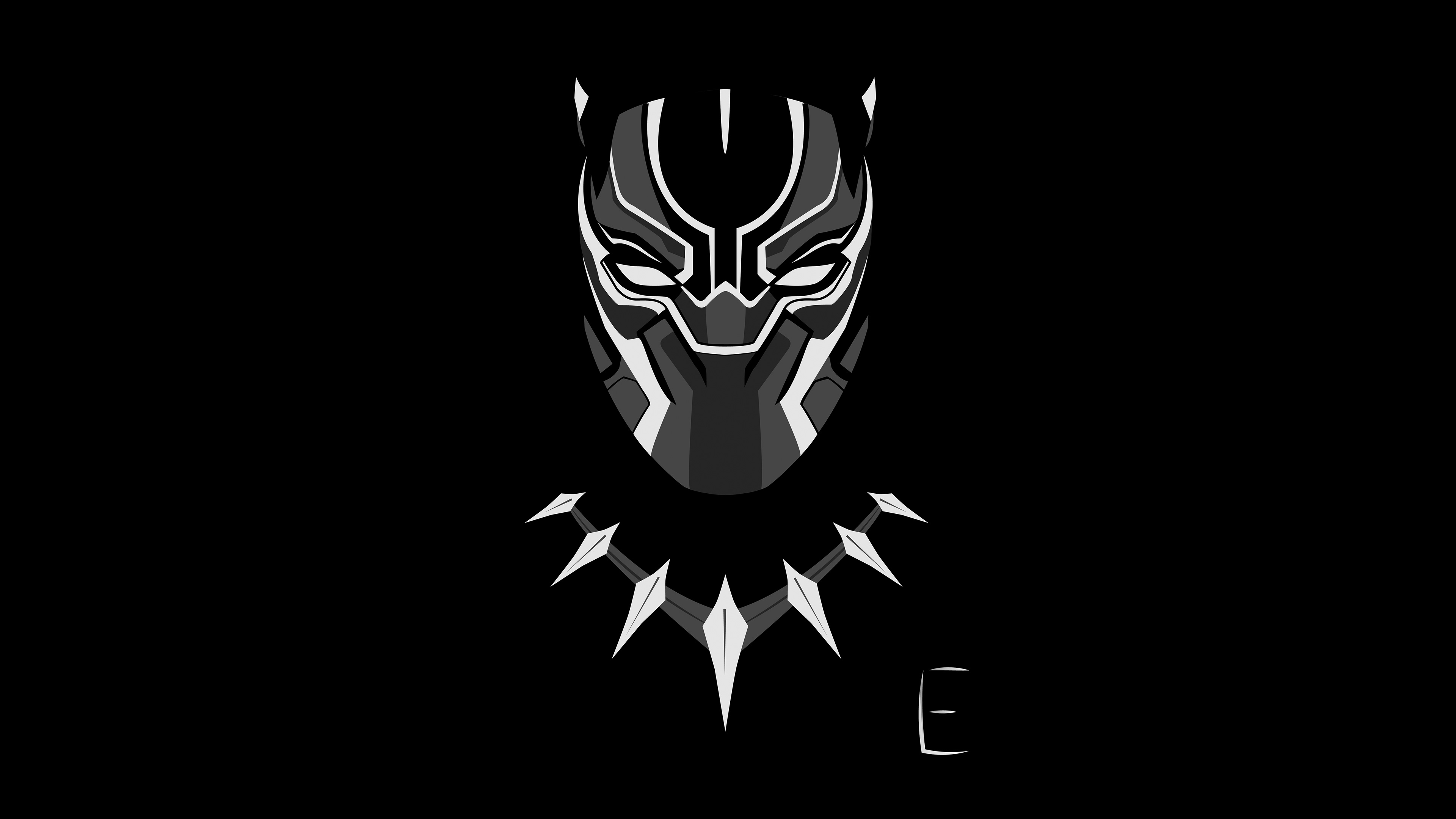 black panther wallpaper  Black Panther Minimalism 4k, HD Artist, 4k Wallpapers, Images ...