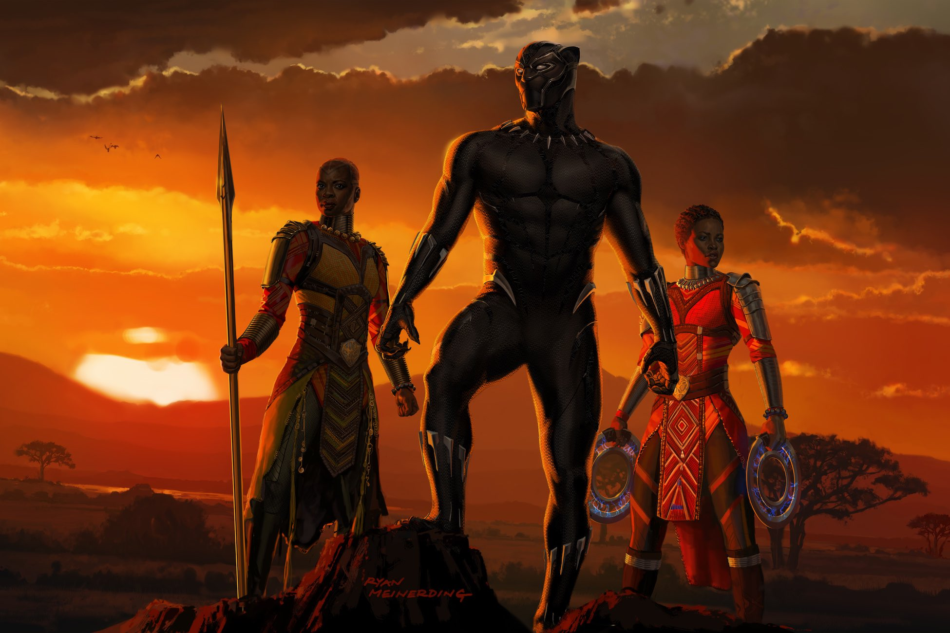 Black Panther 2018 Movie Still Full Hd Wallpaper: Black Panther Movie Artwork, HD Movies, 4k Wallpapers