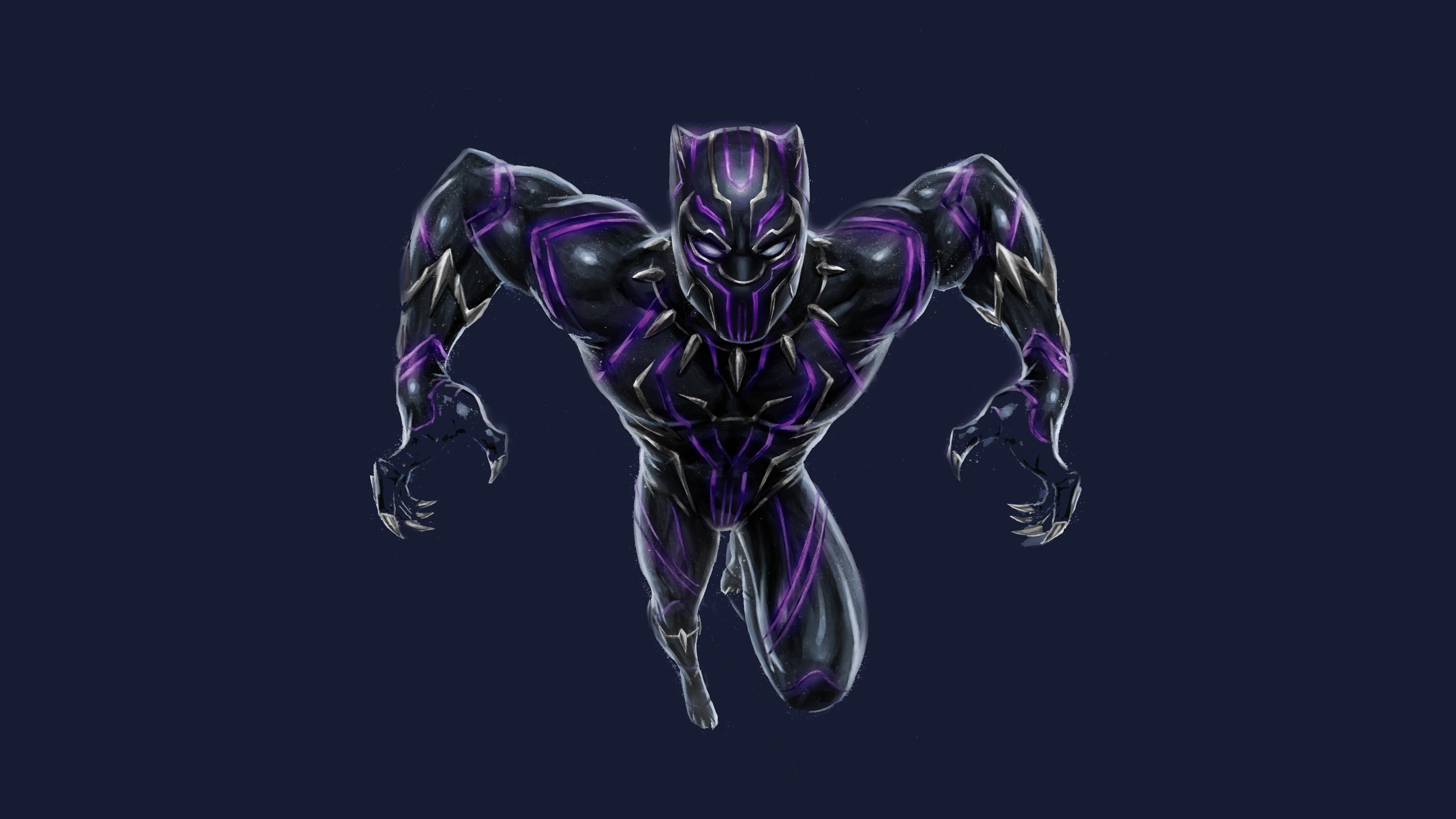 Black Panther Vibranium Suit Hd Superheroes 4k Wallpapers Images