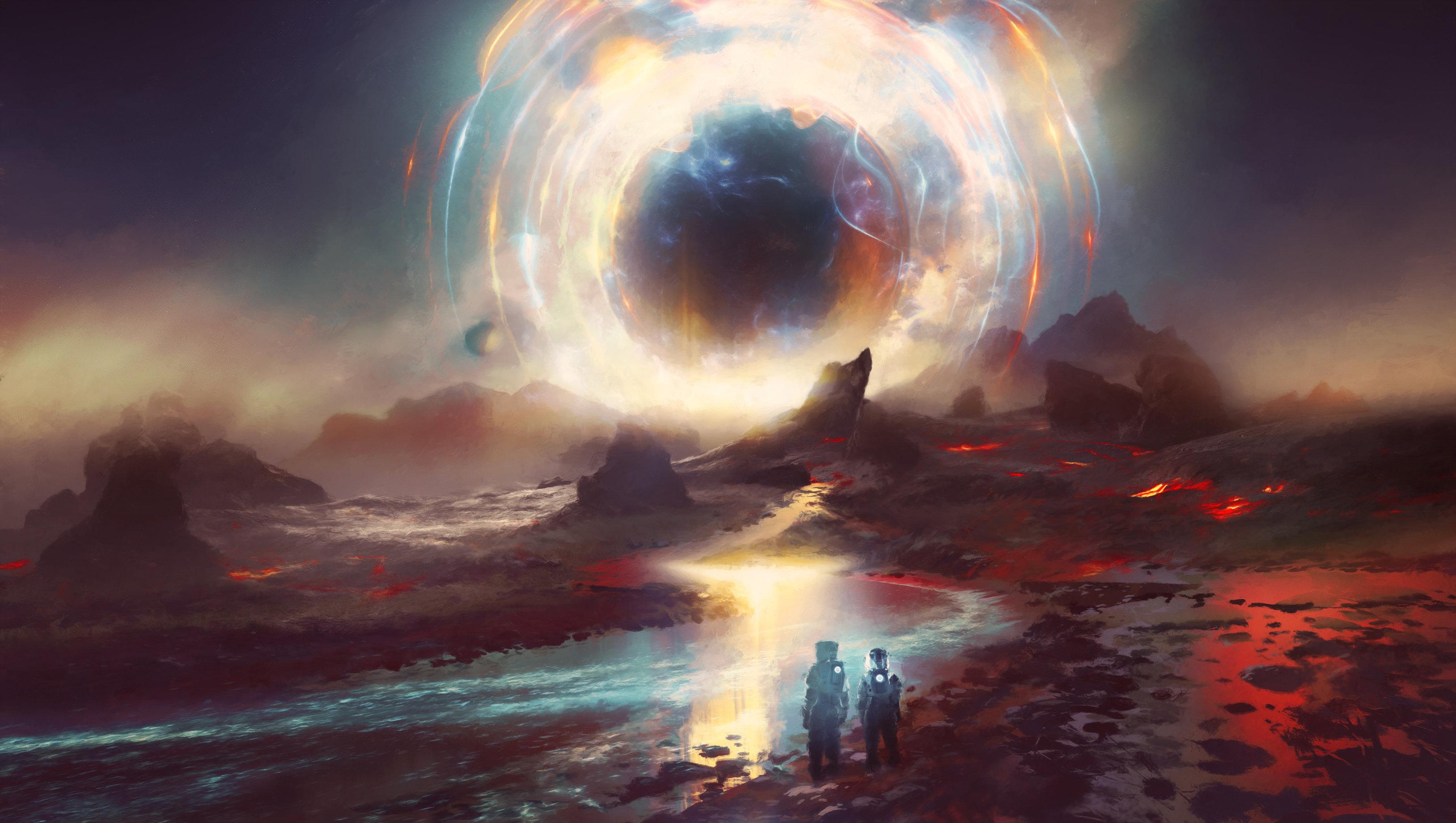 Black Sun Horizon 4k Hd Artist 4k Wallpapers Images