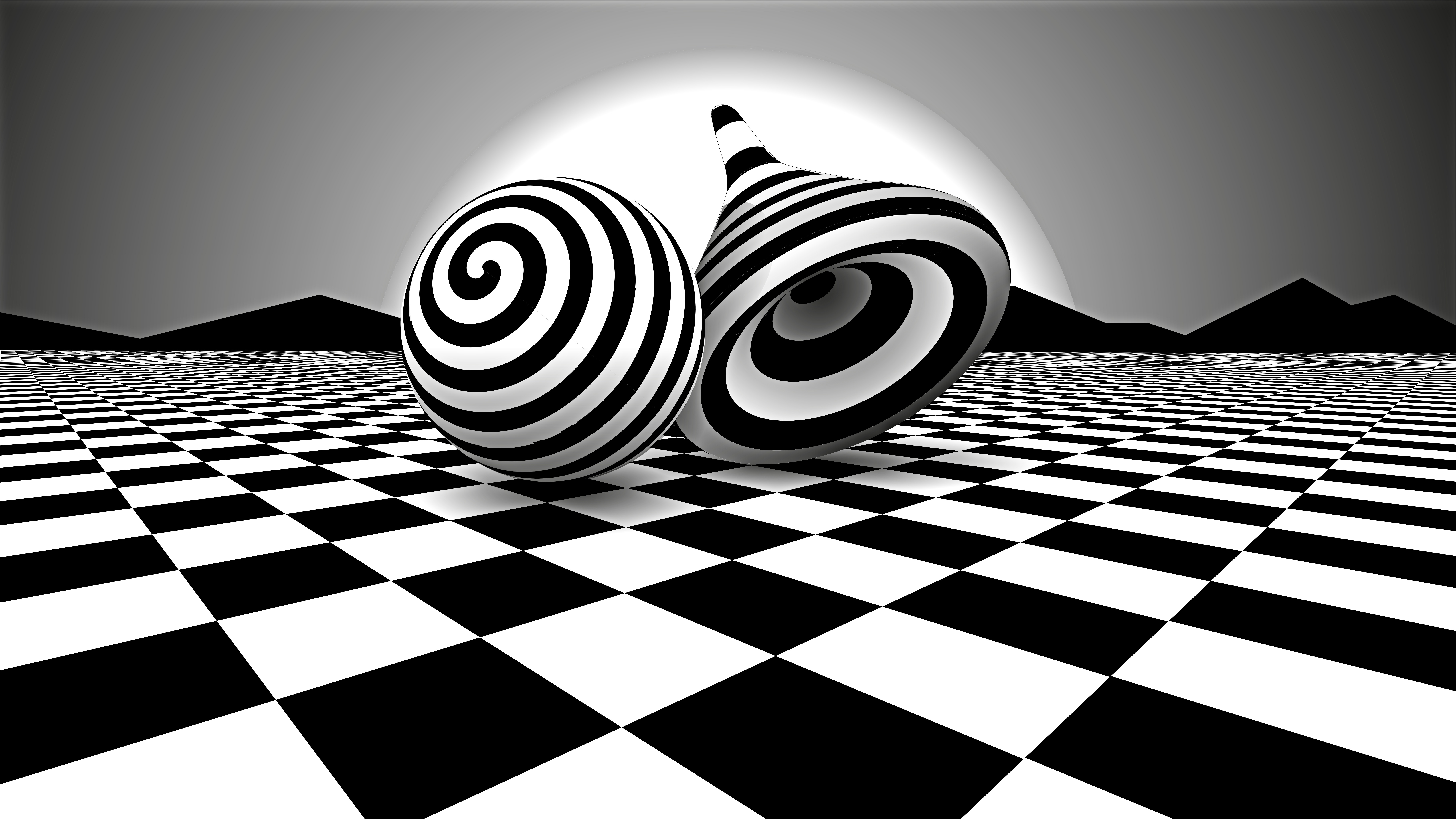 Black white optical illusion hd 3d 4k wallpapers images for Black and white wallpaper 3d