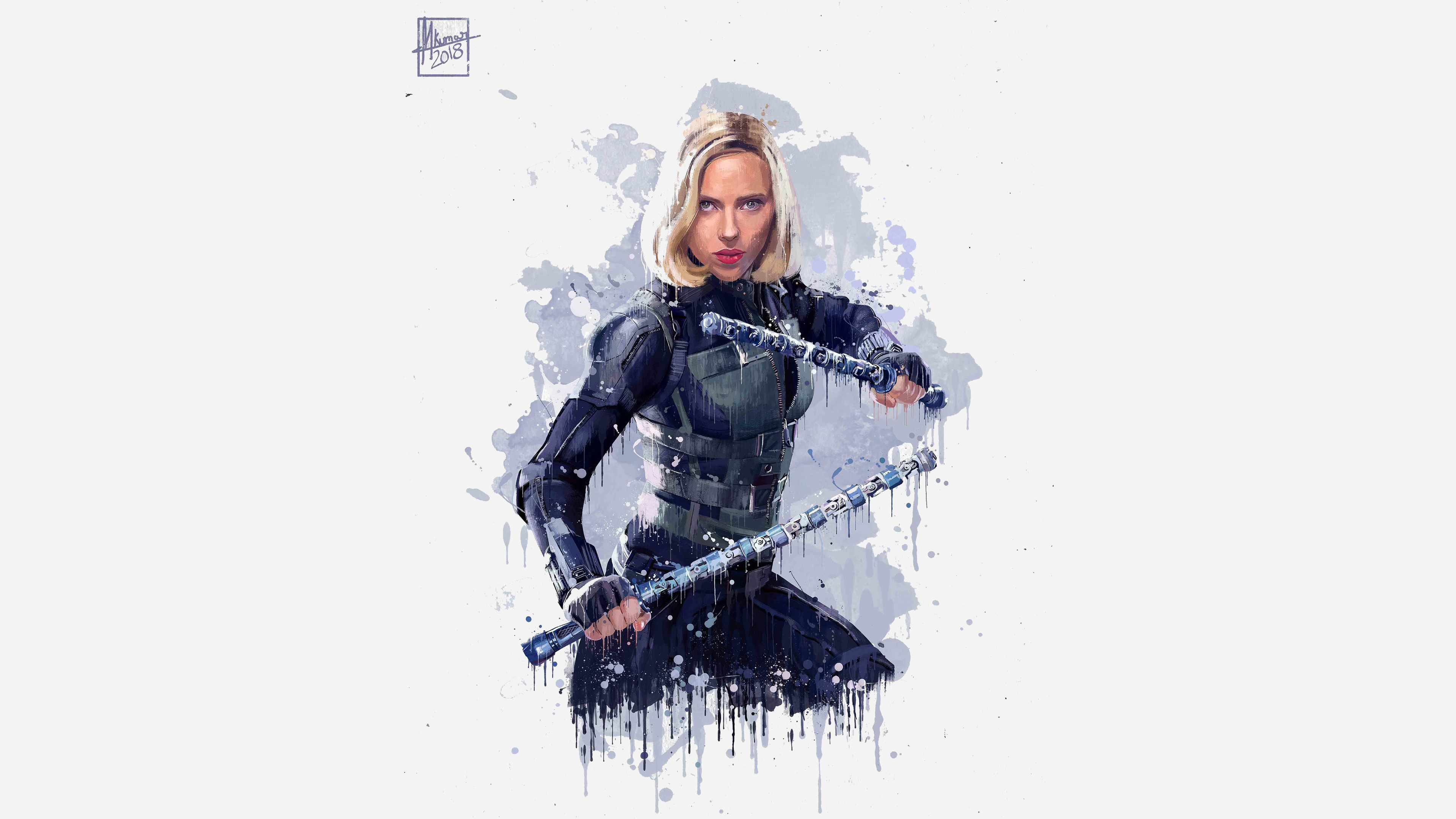 Black Widow In Avengers Infinity War 2018 4k Artwork, HD